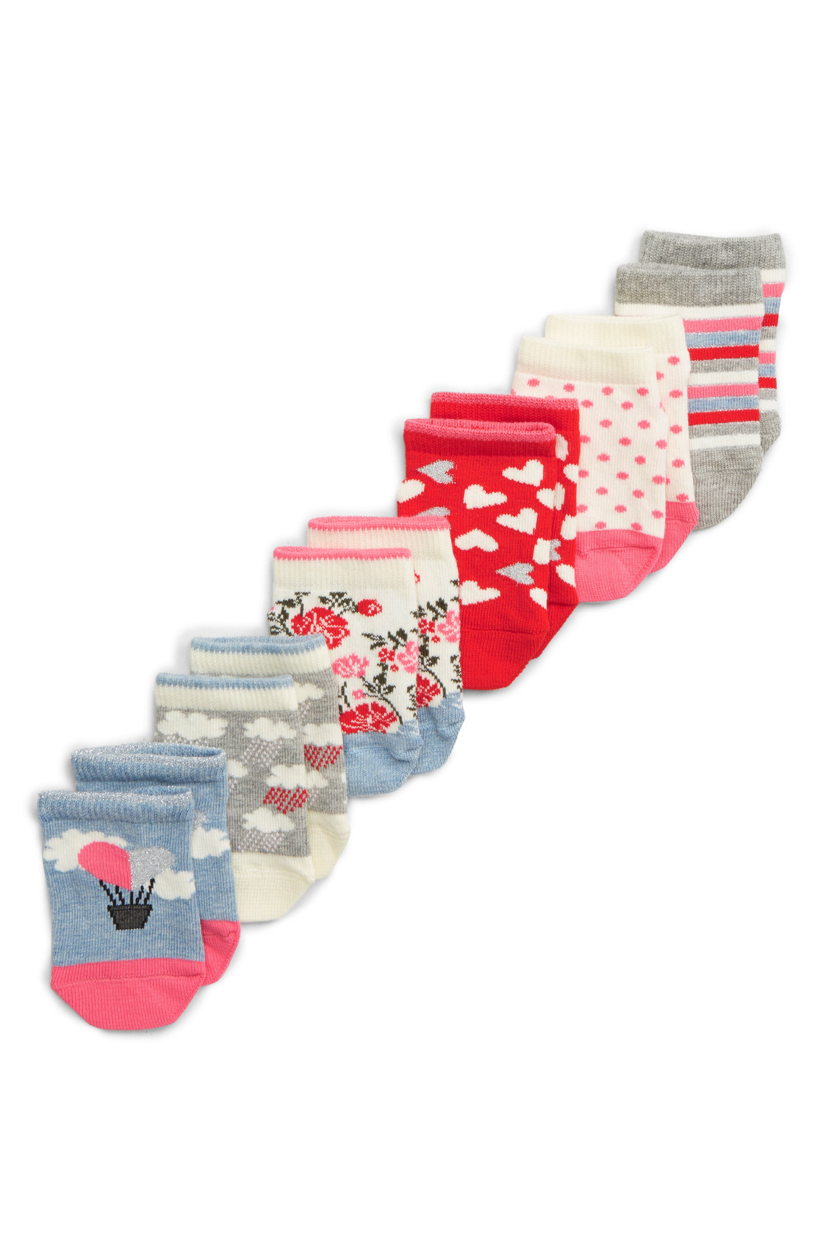 Girls Tucker  Tate 6Pack Low Cut Socks Size 410  White