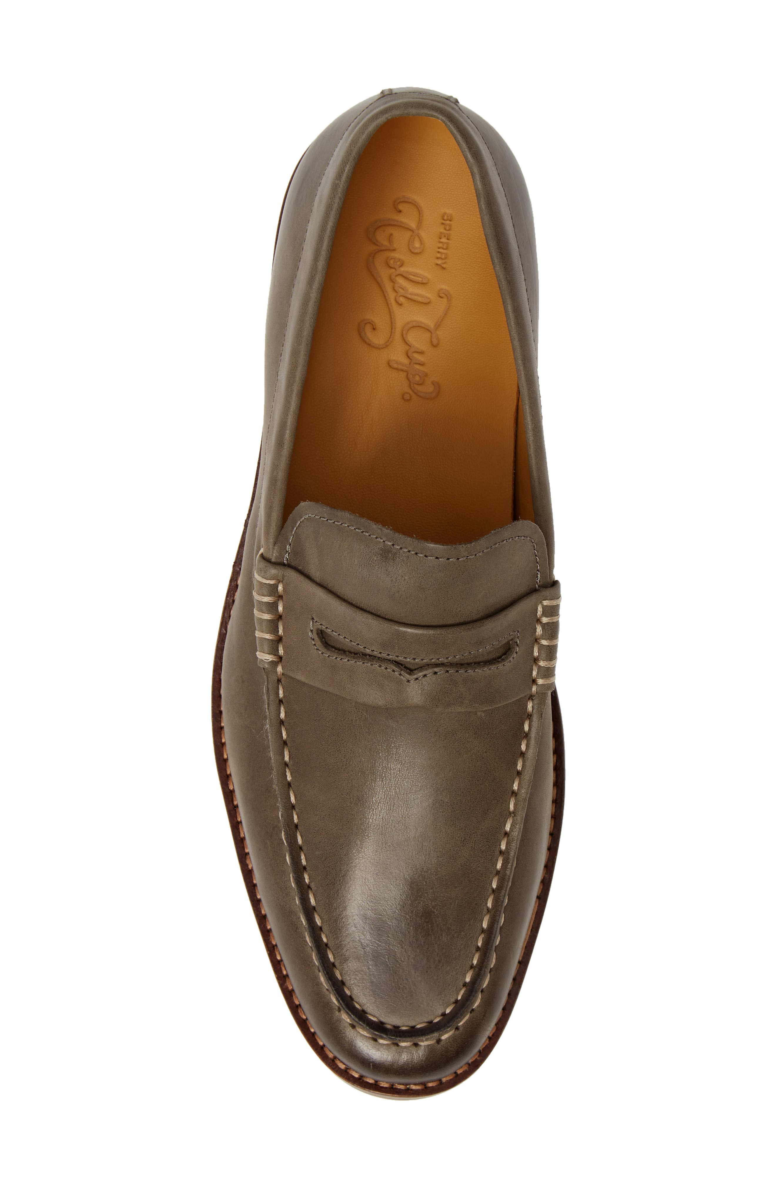 SPERRY, Exeter Penny Loafer, Alternate thumbnail 5, color, GREY