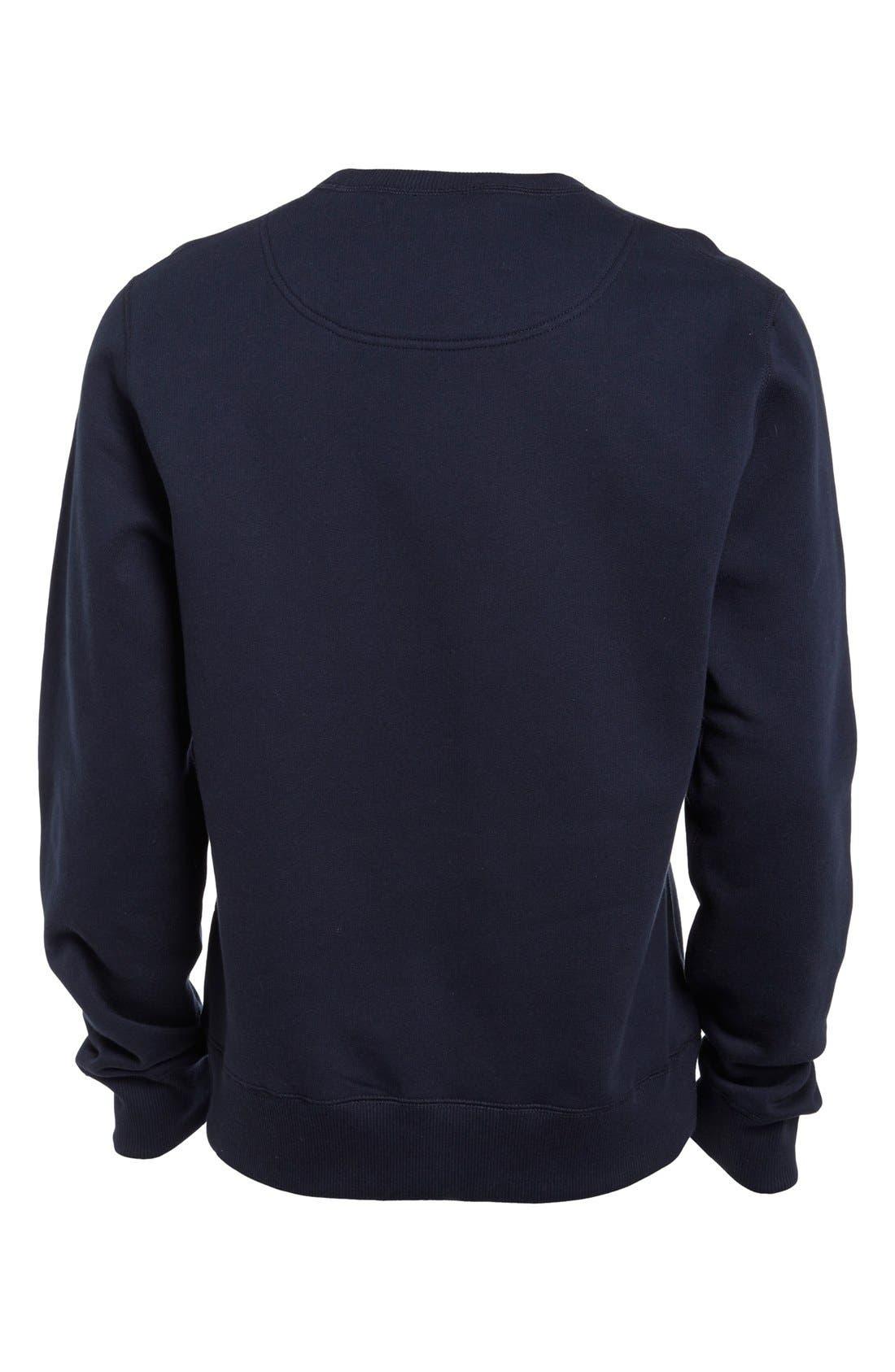 KENZO, Embroidered Tiger Sweatshirt, Alternate thumbnail 3, color, 410