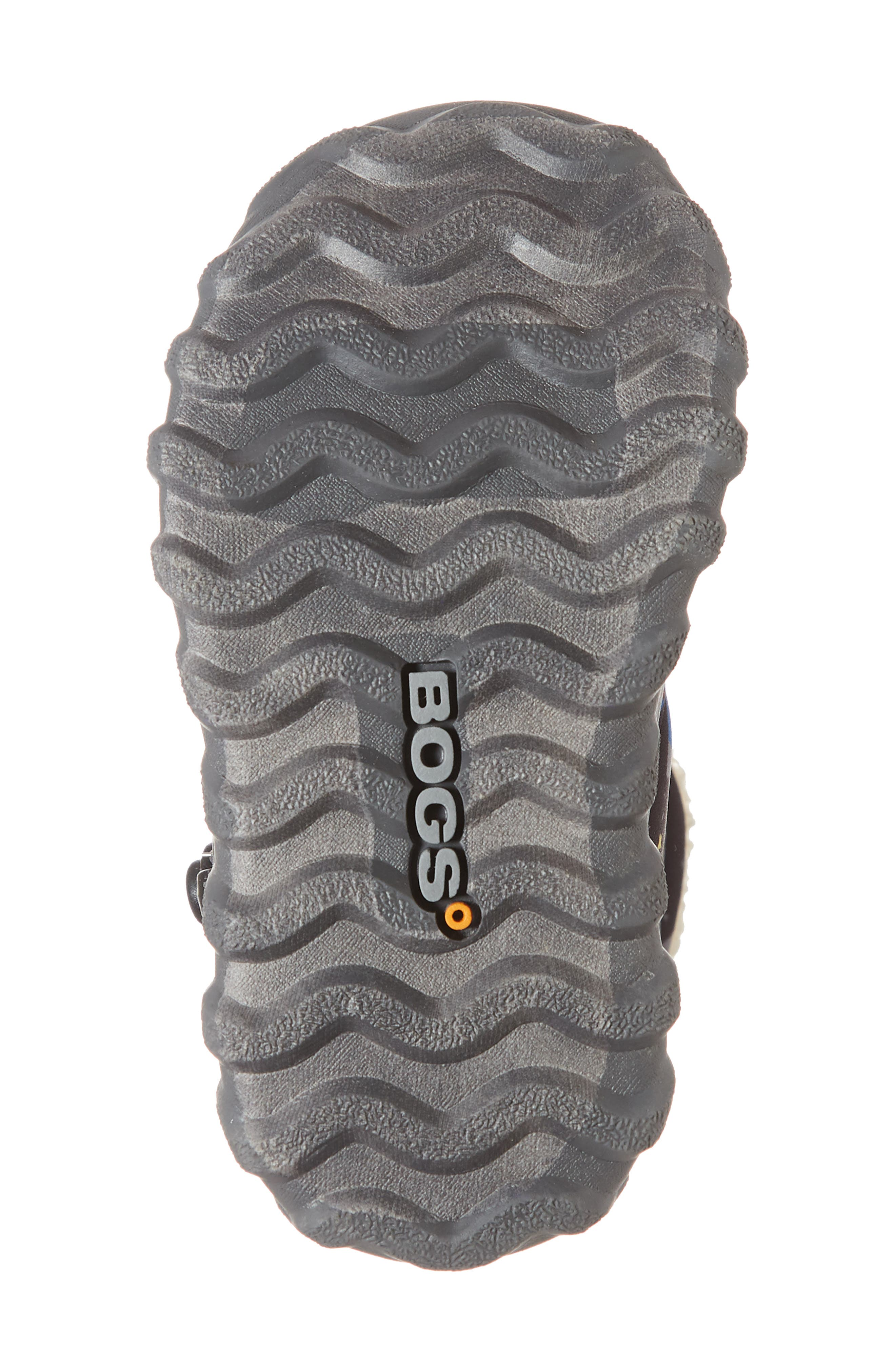 BOGS, B-MOC Space Waterproof Insulated Faux Fur Boot, Alternate thumbnail 6, color, BLACK MULTI