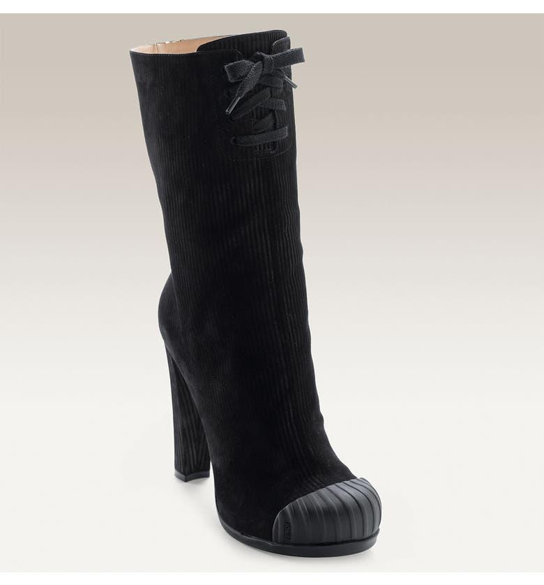 898bd4622224 Fendi Corduroy Suede Boot