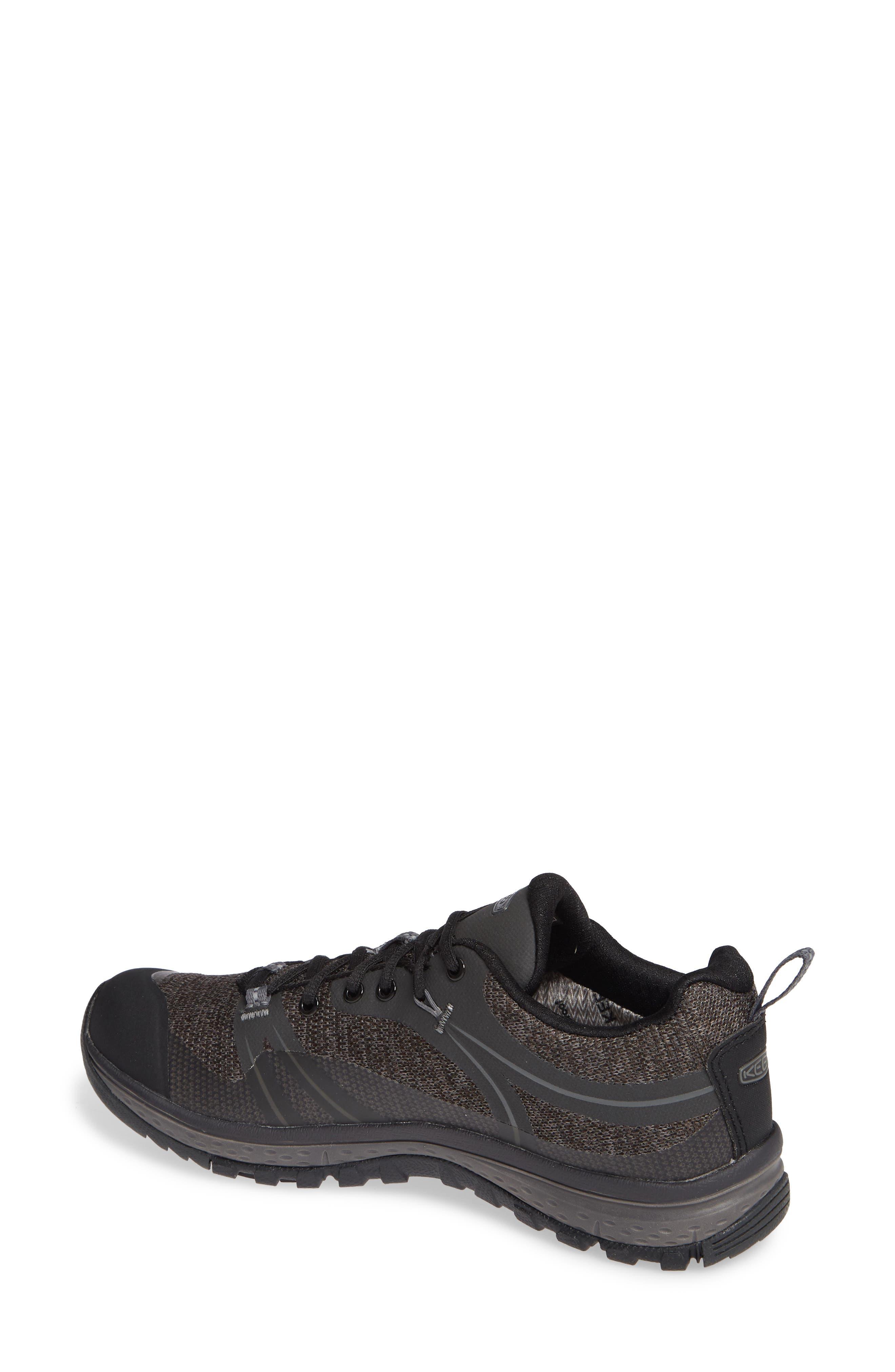 KEEN, Terradora Hiking Waterproof Sneaker, Alternate thumbnail 2, color, RAVEN/ GARGOYLE