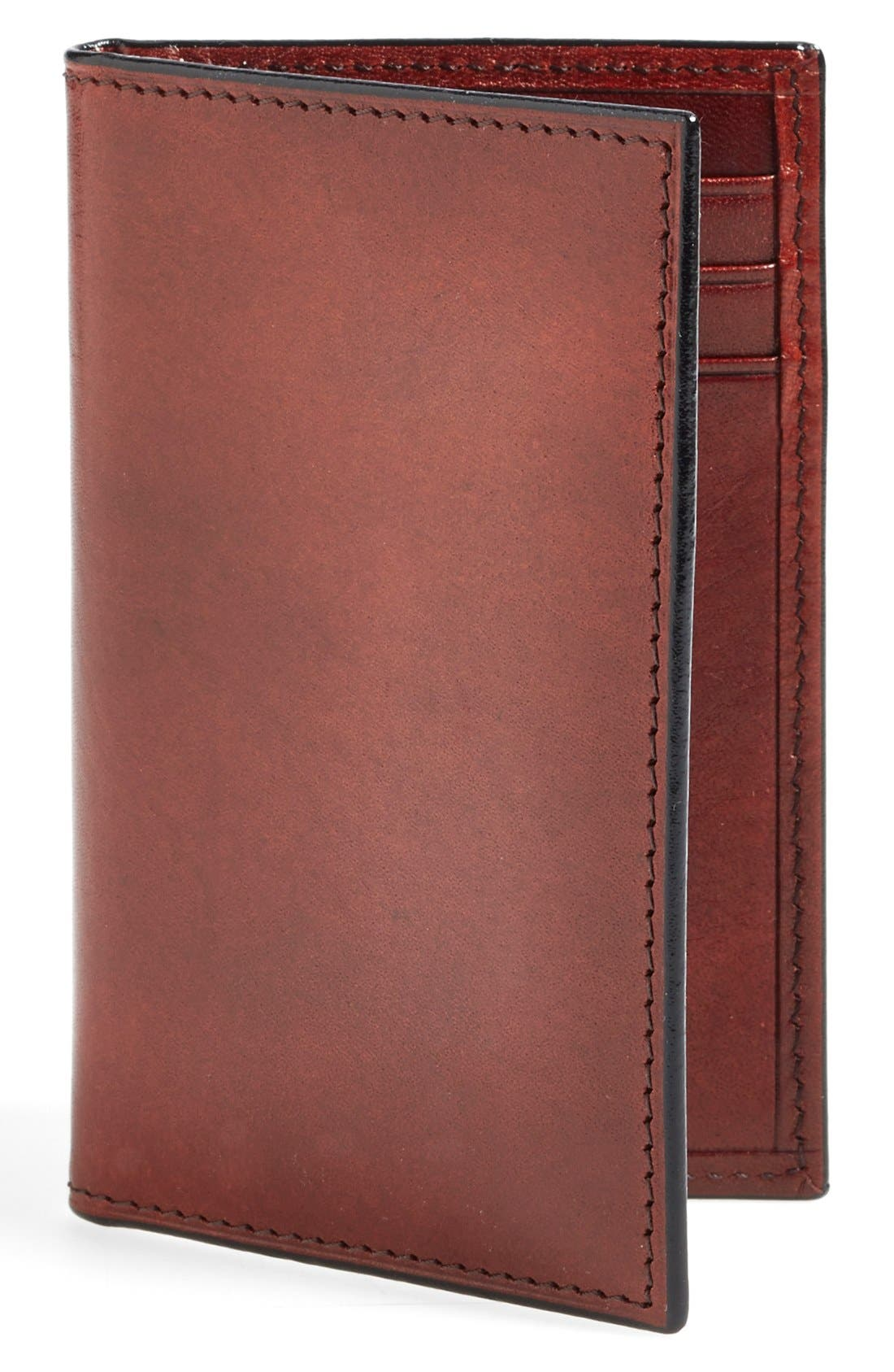BOSCA, 'Old Leather' Card Case, Main thumbnail 1, color, DARK BROWN