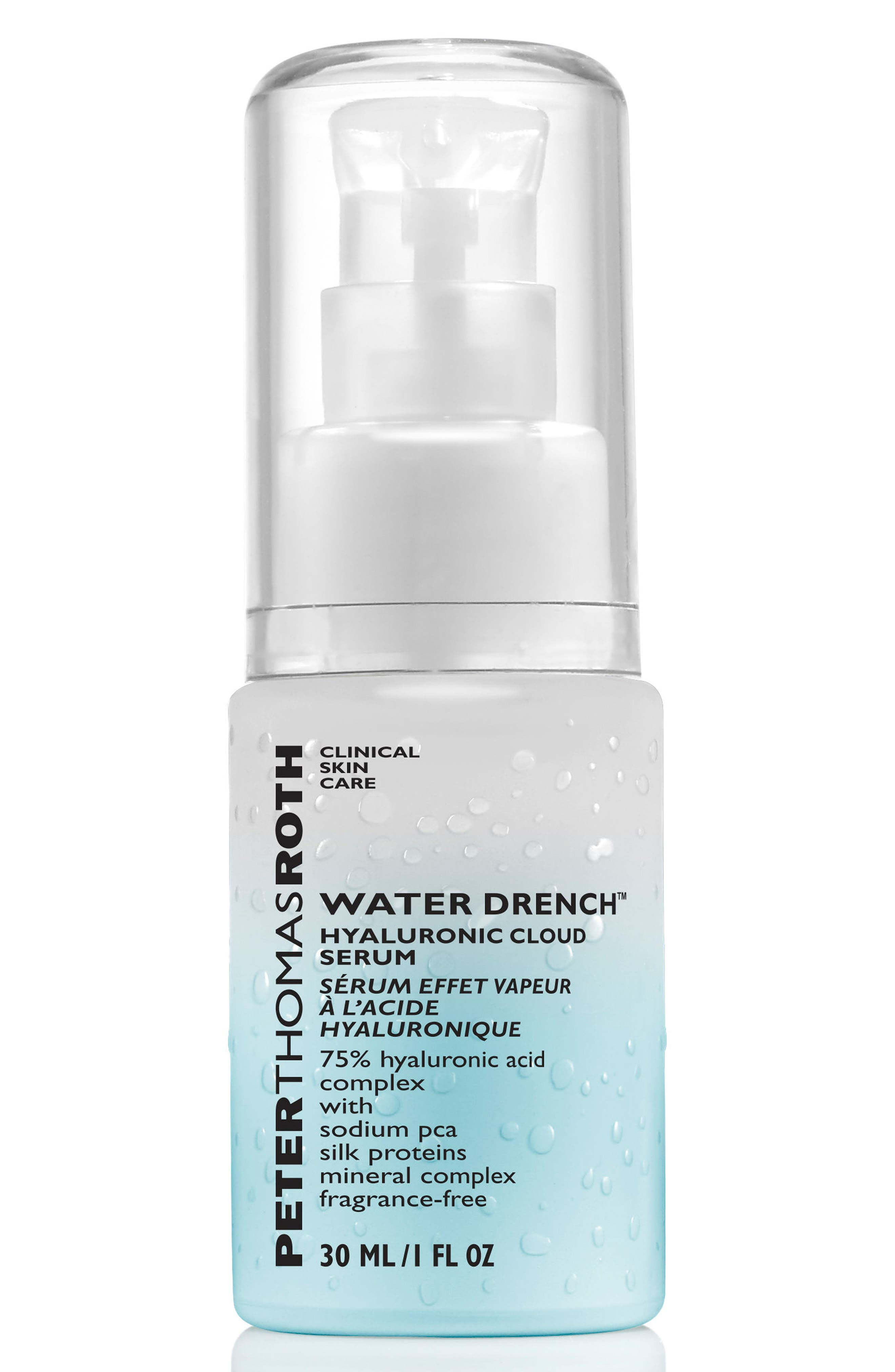 PETER THOMAS ROTH, Water Drench Hyaluronic Cloud Serum, Main thumbnail 1, color, NO COLOR