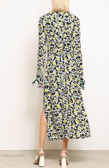 Floral Print Knotted Midi Dress, video thumbnail