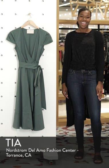 Addison Cotton Tie Waist Fit & Flare Wrap Dress, sales video thumbnail