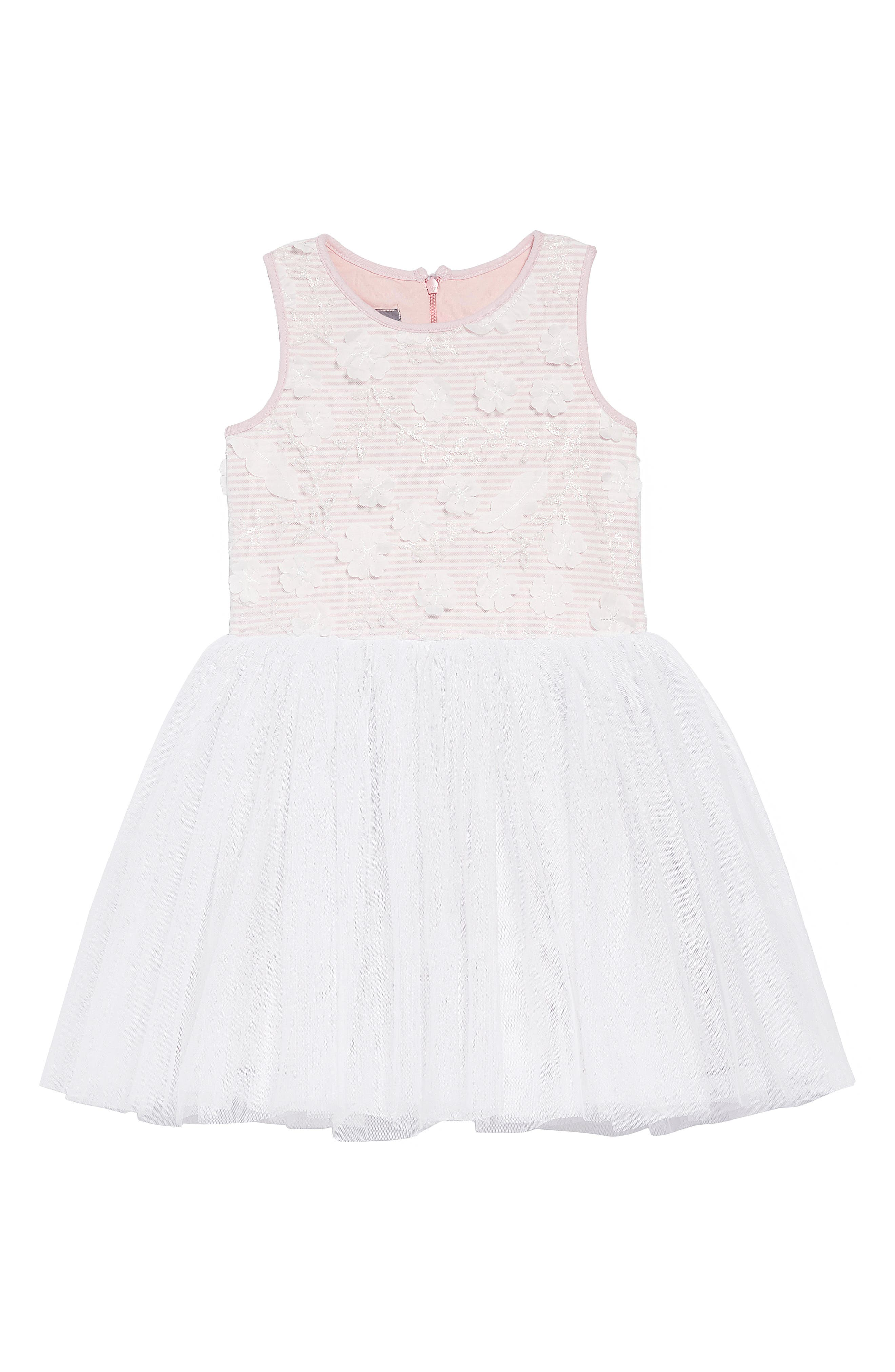 PASTOURELLE BY PIPPA & JULIE, Embellished Bodice Dress, Main thumbnail 1, color, 654