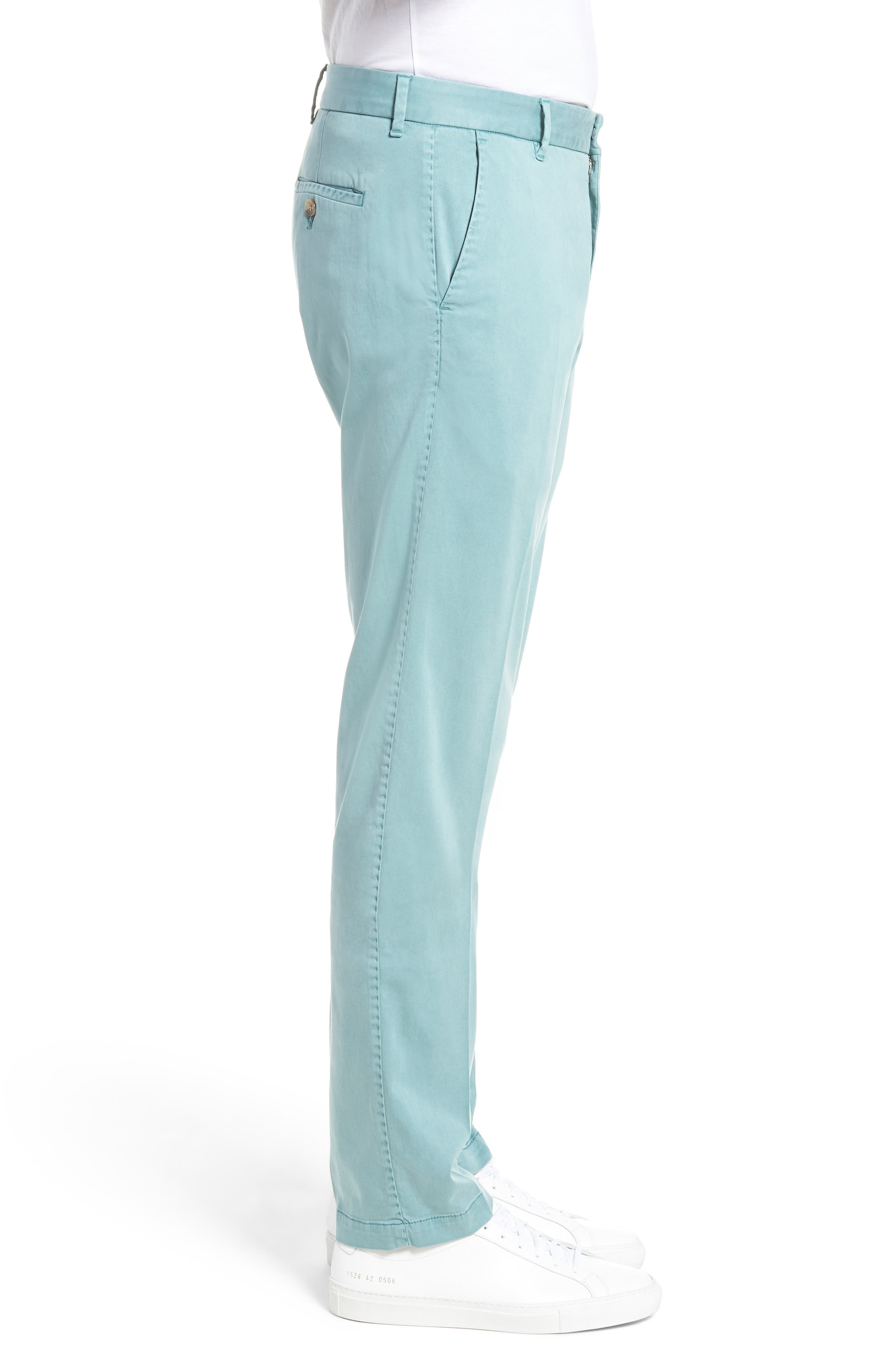 ZACHARY PRELL, Aster Straight Fit Pants, Alternate thumbnail 4, color, TEAL