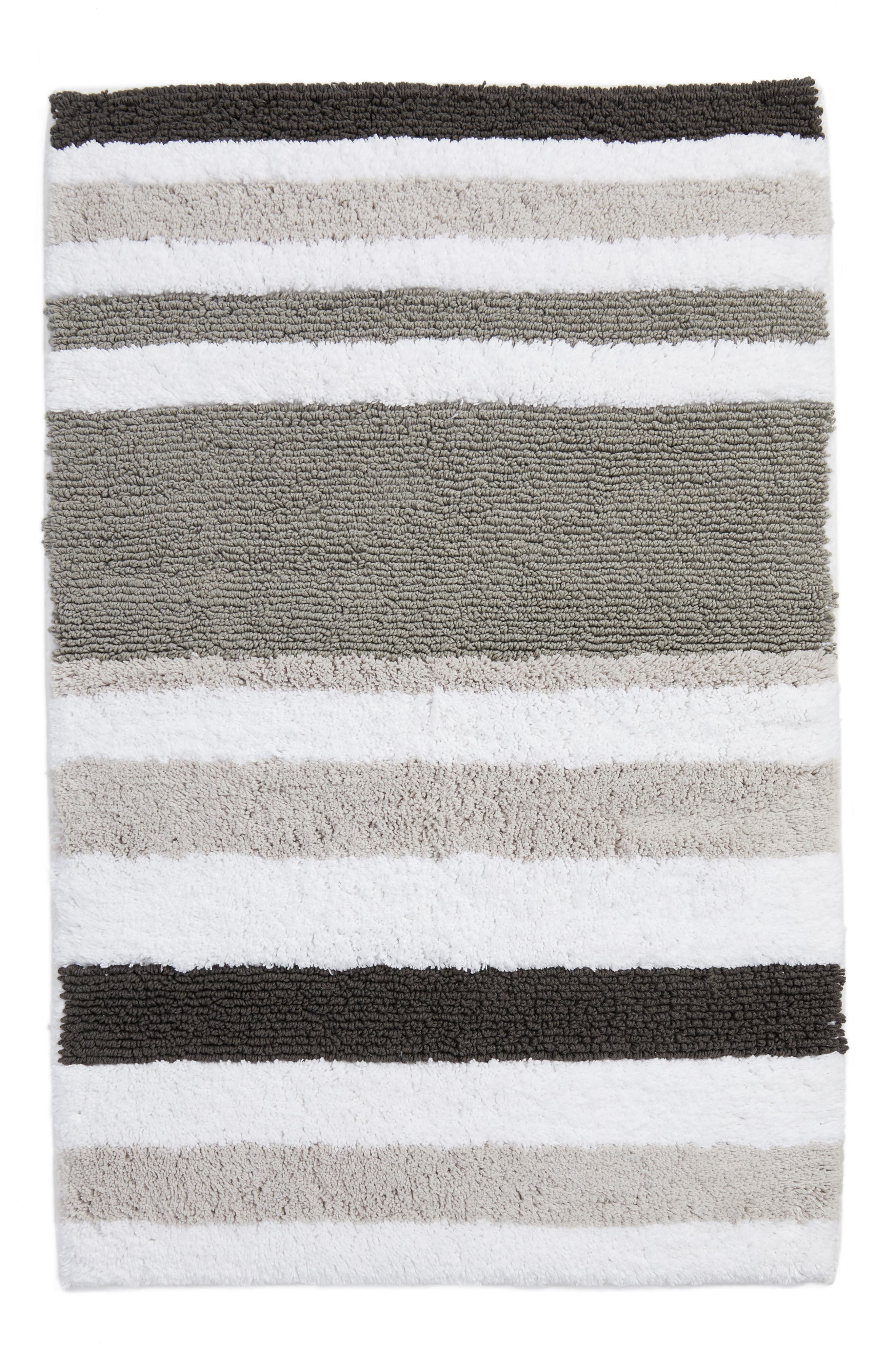 NORDSTROM AT HOME, Stripe Rug, Main thumbnail 1, color, 020
