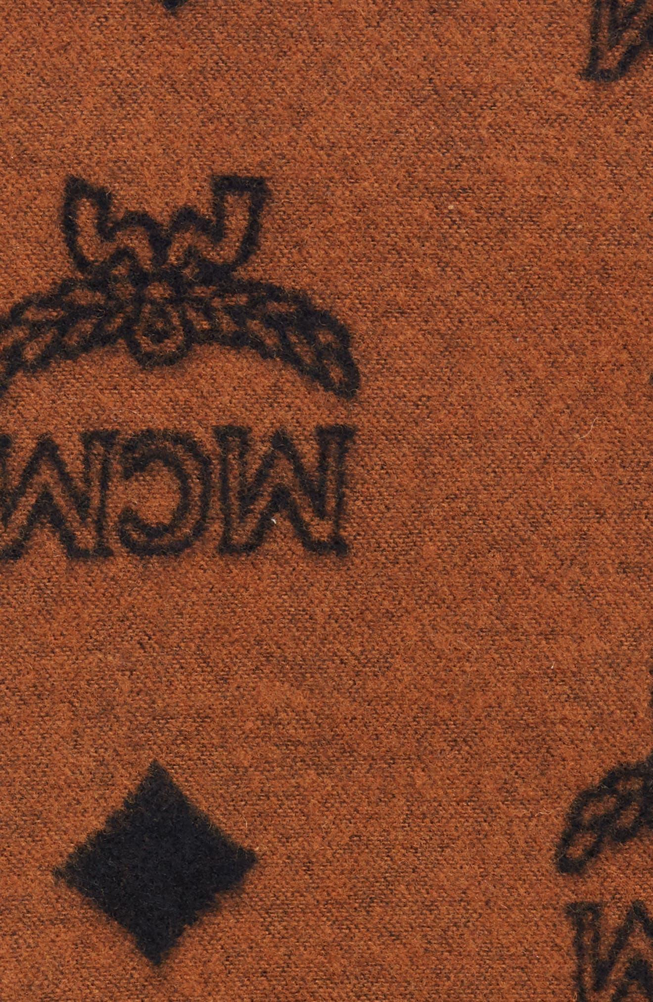 MCM, Wool Blend Throw Blanket, Alternate thumbnail 2, color, 200