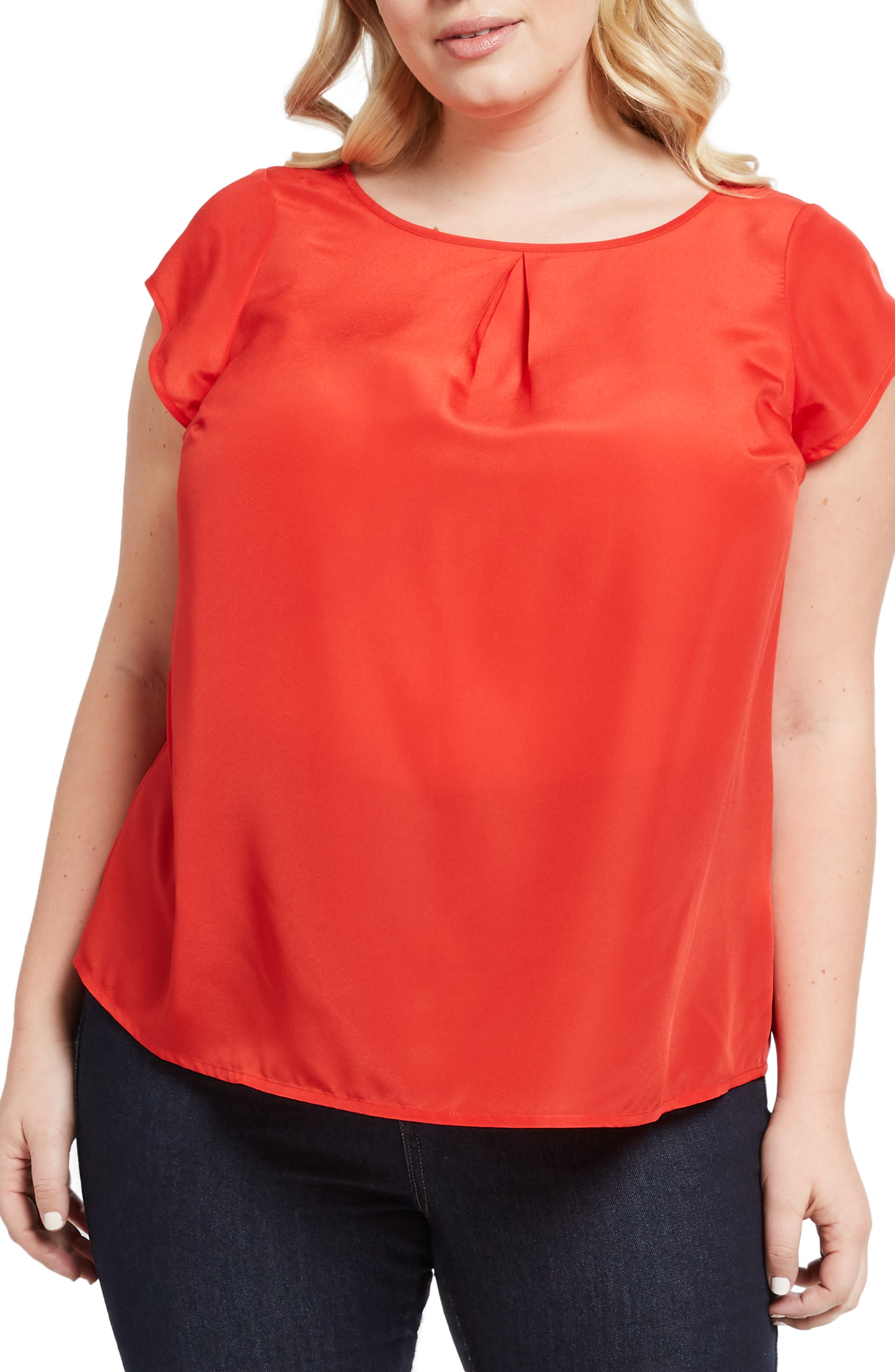 MODCLOTH, Graceful Expectations Top, Alternate thumbnail 2, color, RED SOLID