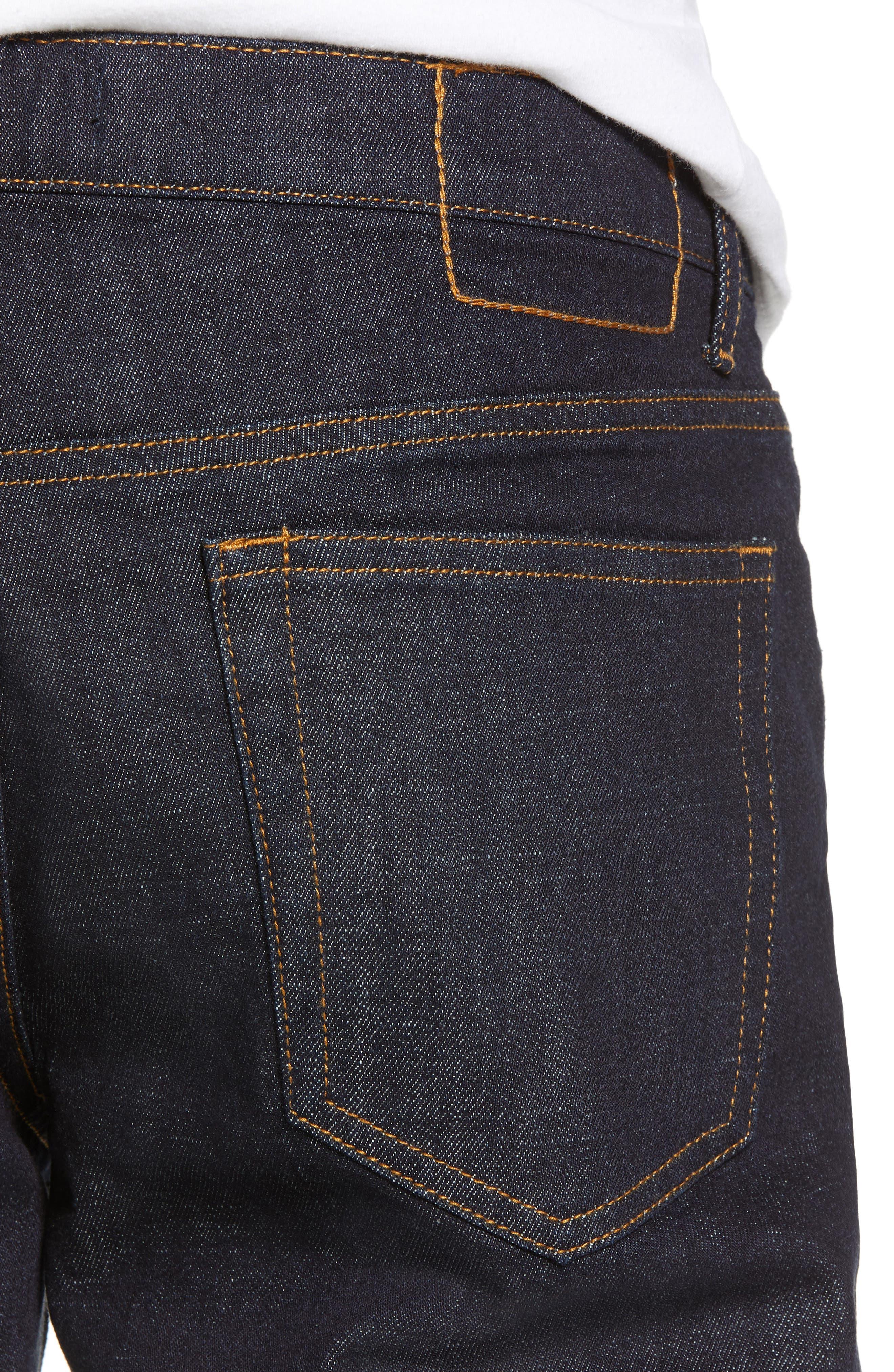 THE RAIL, Stretch Slim Leg Jeans, Alternate thumbnail 5, color, BLUE PERRY WASH