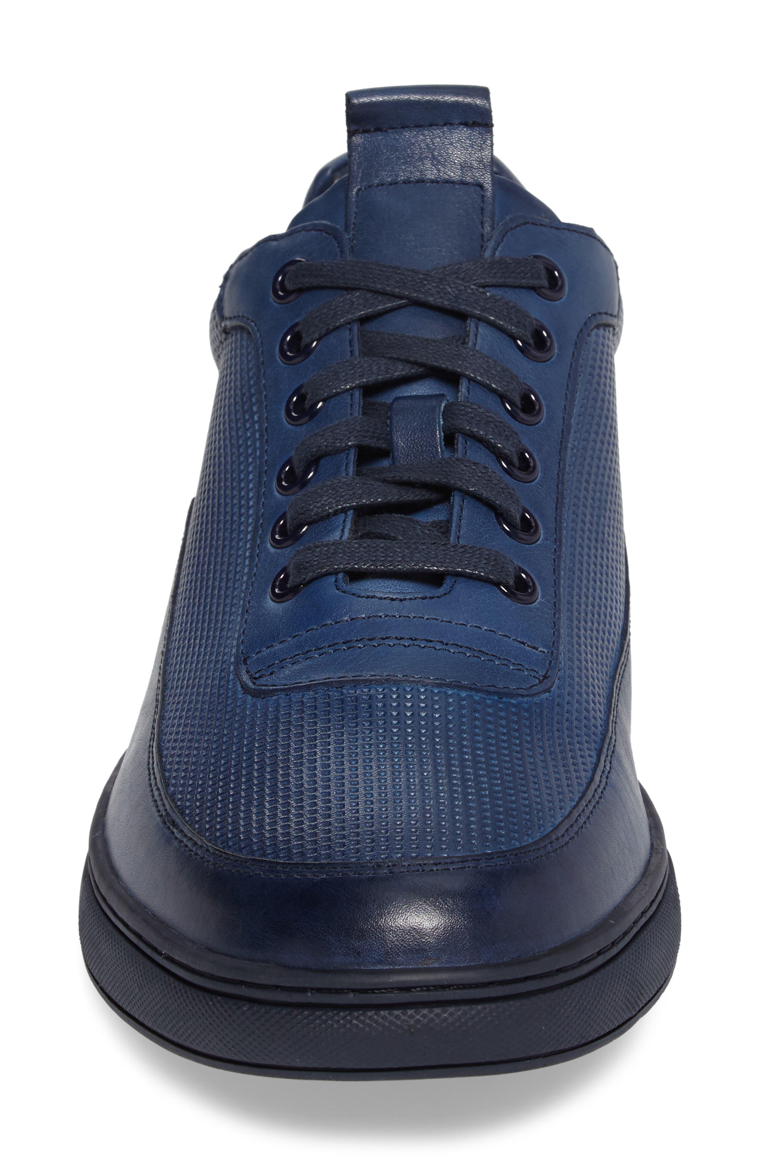 ZANZARA, Harmony Sneaker, Alternate thumbnail 4, color, BLUE LEATHER