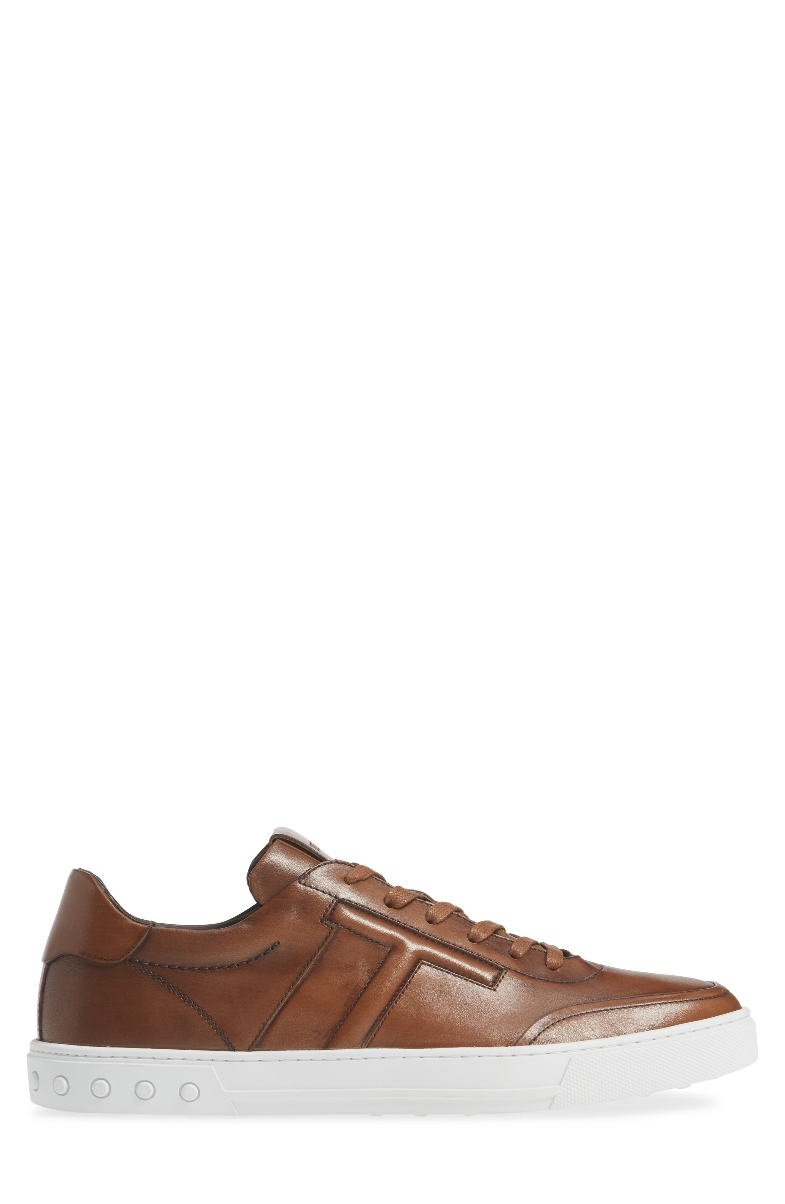TOD'S, 'Cassetta' Sneaker, Alternate thumbnail 3, color, CARAMEL/ SPECIAL LEATHER