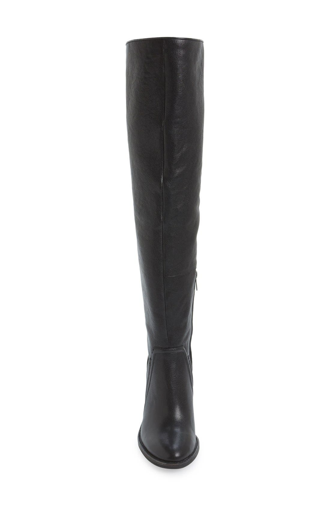 VINCE CAMUTO, 'Melaya' Over the Knee Boot, Alternate thumbnail 3, color, 001