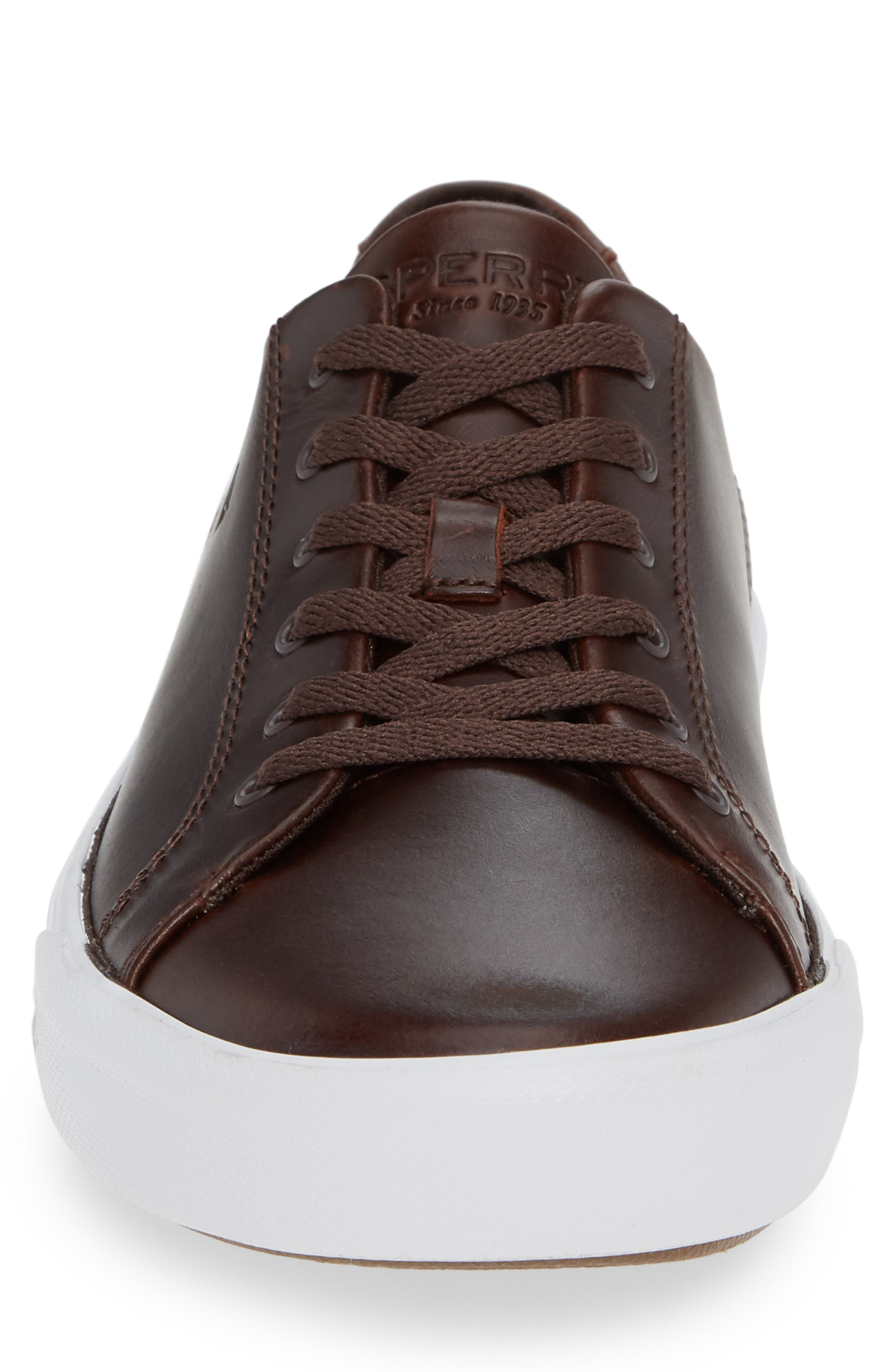 SPERRY, Striper II Sneaker, Alternate thumbnail 4, color, AMARETTO LEATHER