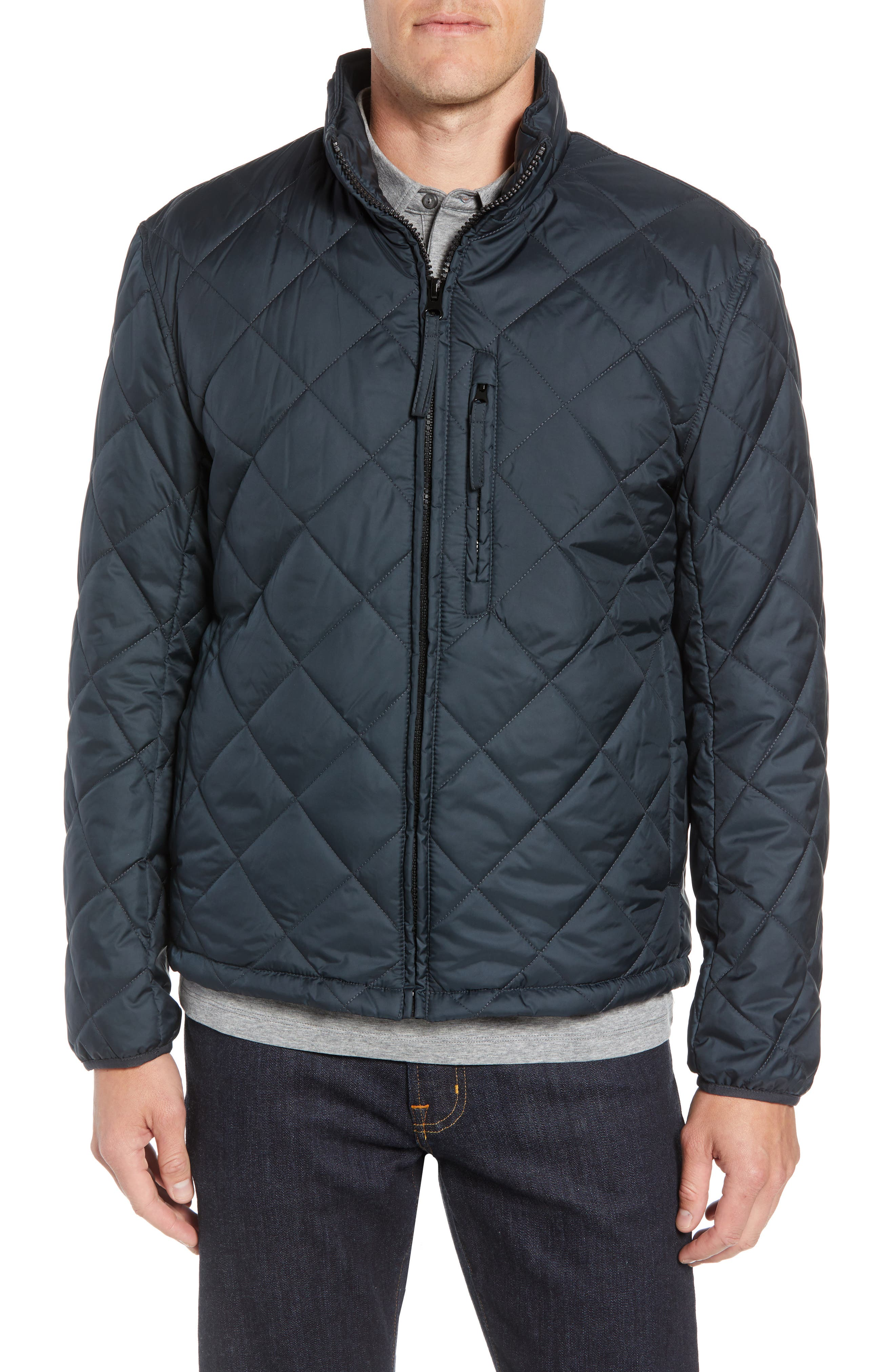 MARC NEW YORK, Humboldt Quilted Jacket, Alternate thumbnail 5, color, BLACK