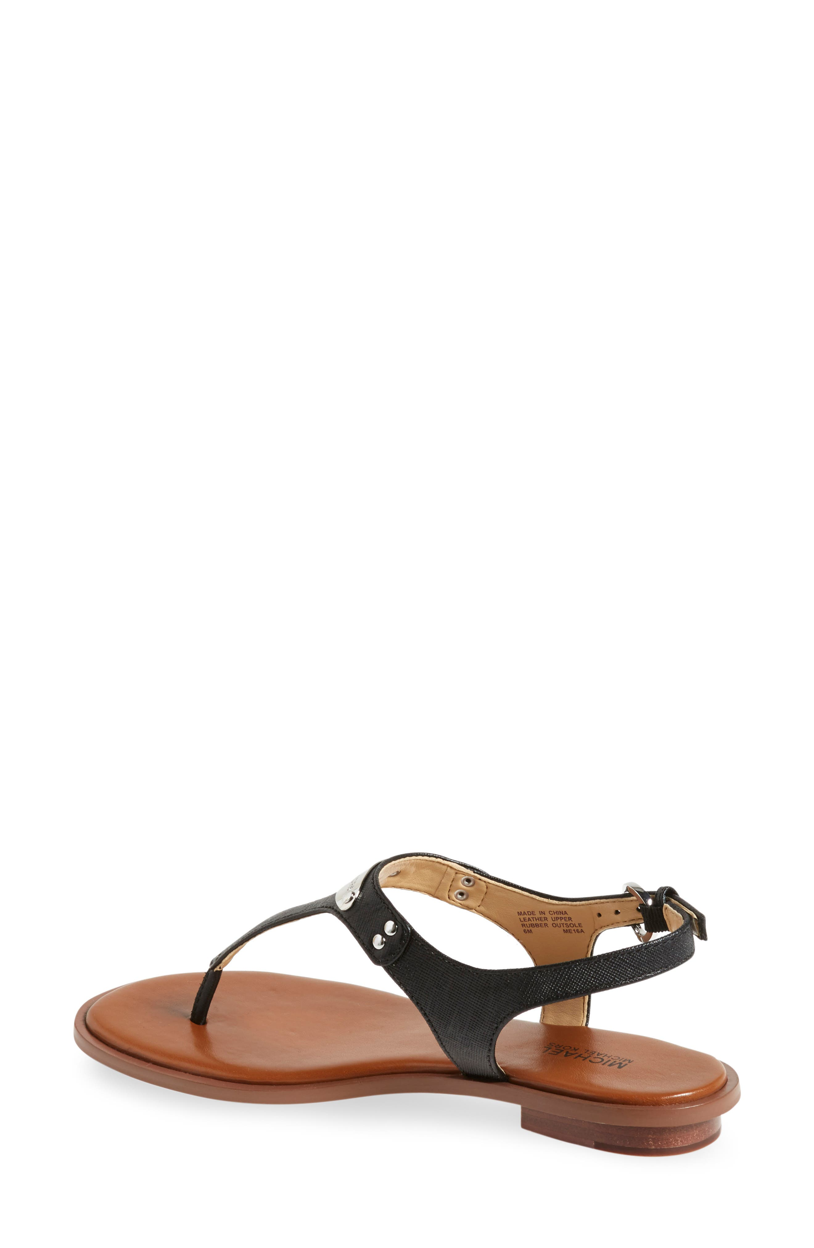 MICHAEL MICHAEL KORS 'Plate' Sandal, Main, color, BLACK