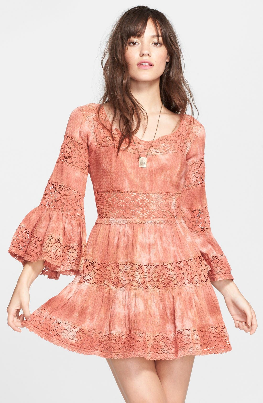 FREE PEOPLE, 'Pippa' Gauze Fit & Flare Dress, Main thumbnail 1, color, 800