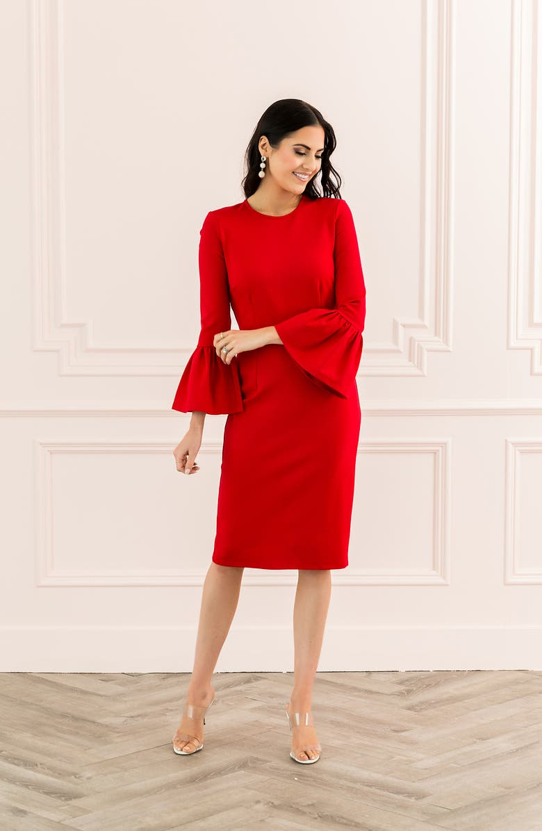 Rachel Parcell Bell Sleeve Sheath Dress (Nordstrom Exclusive) | Nordstrom