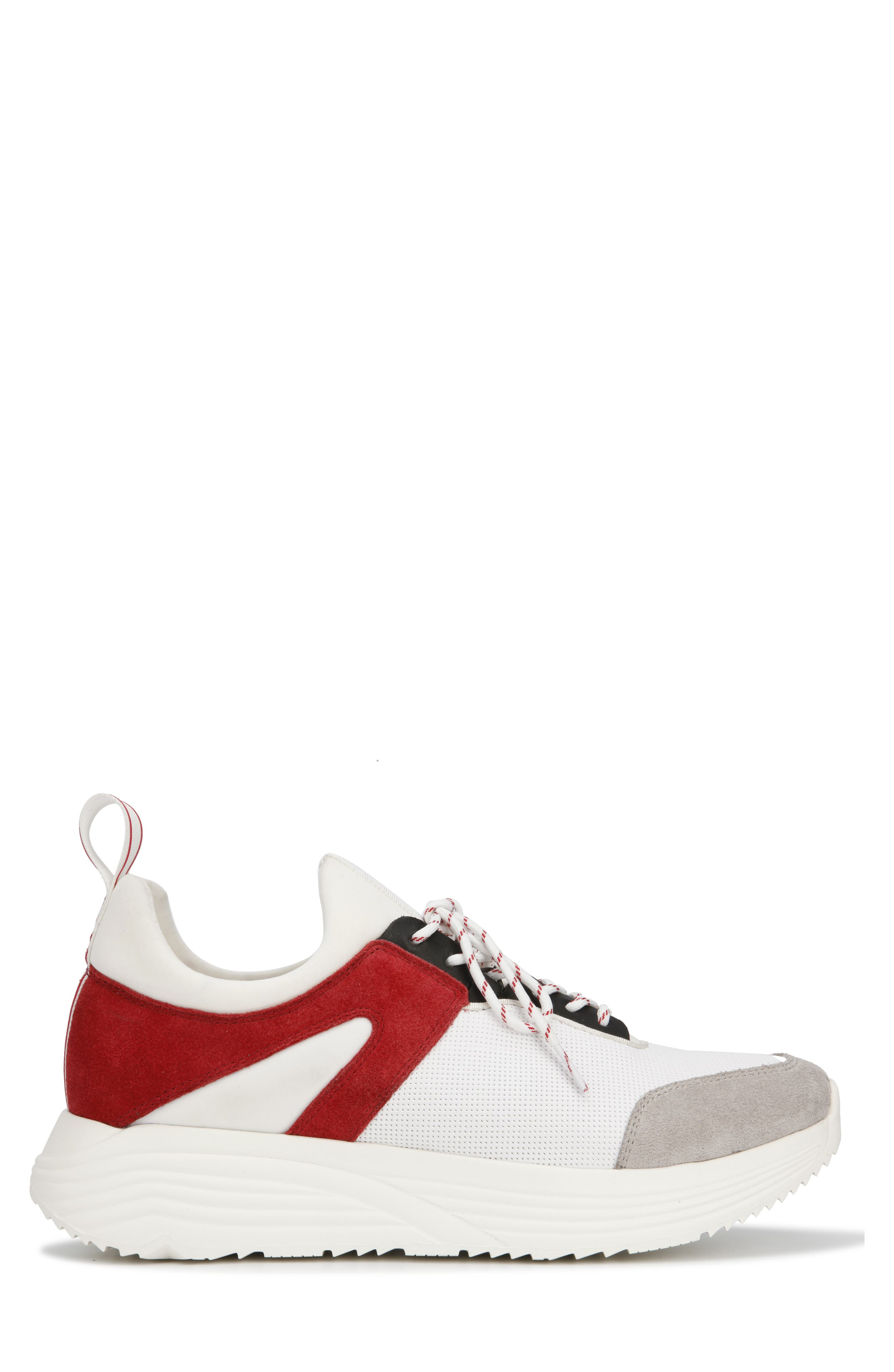 KENNETH COLE NEW YORK, Un-Dad Sneaker, Alternate thumbnail 2, color, WHITE/ RED LEATHER