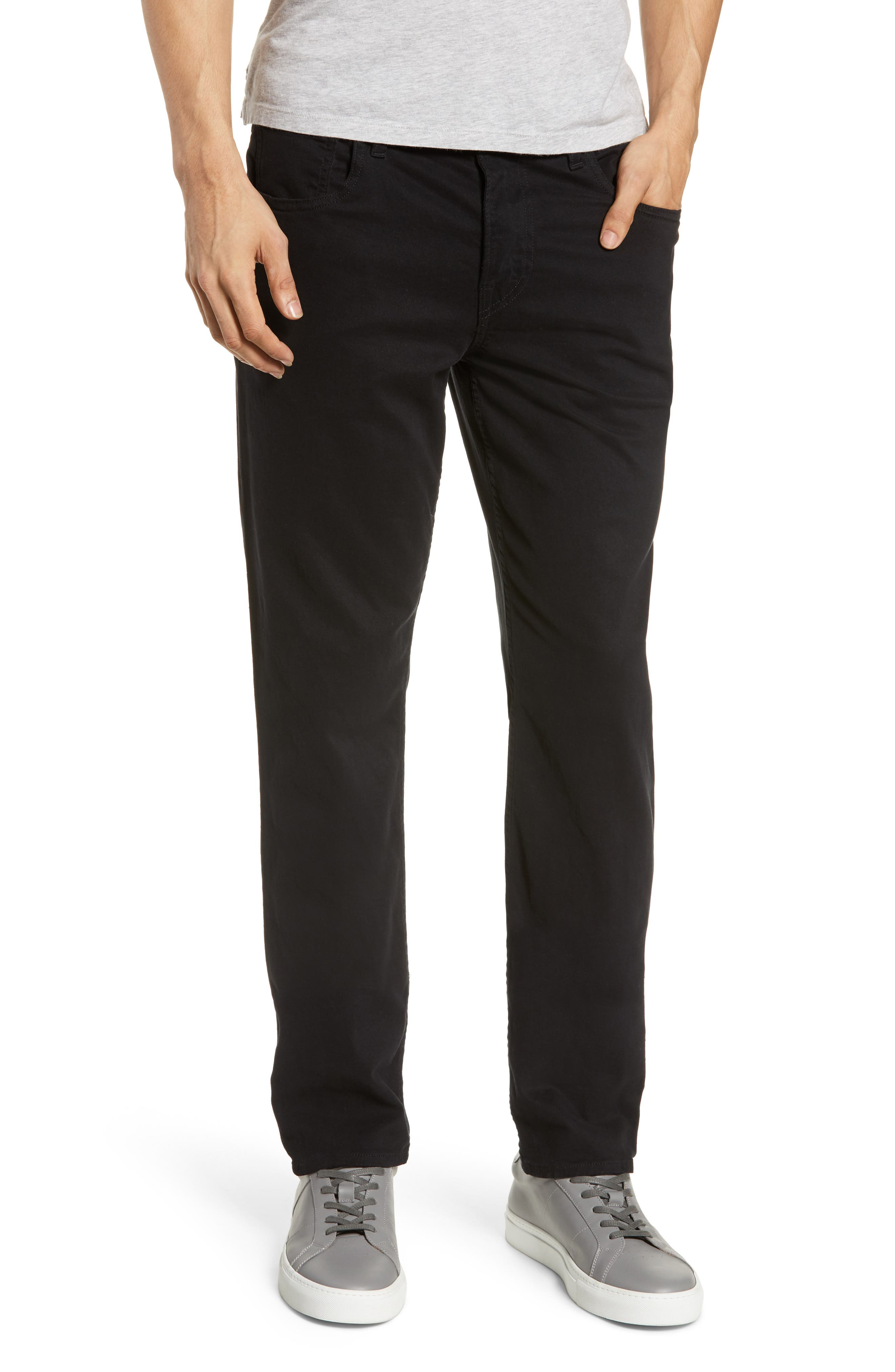 HUDSON JEANS Blake Slim Fit Jeans, Main, color, BLACK