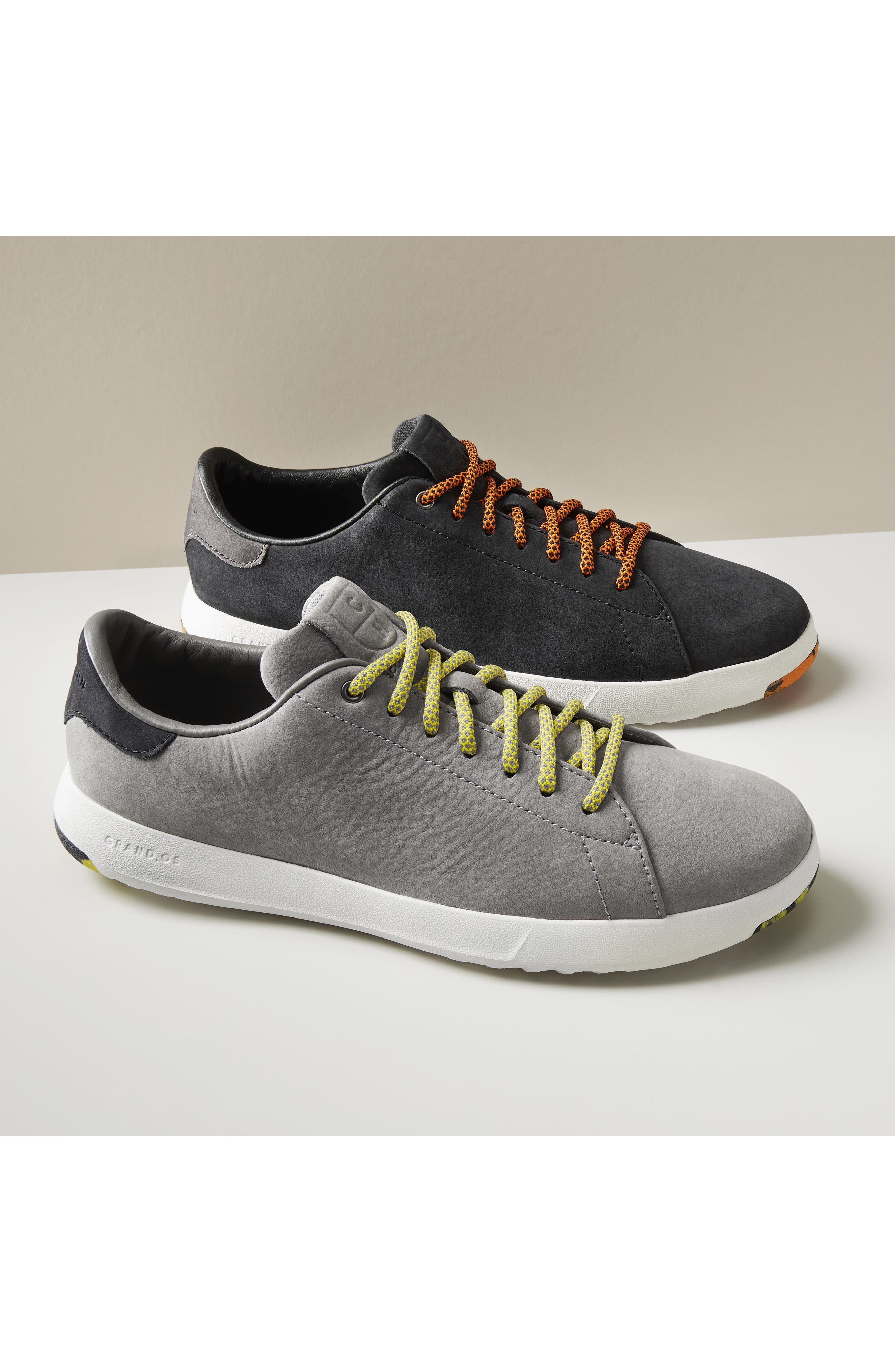 COLE HAAN, GrandPro Tennis Sneaker, Alternate thumbnail 16, color, GREY SUEDE