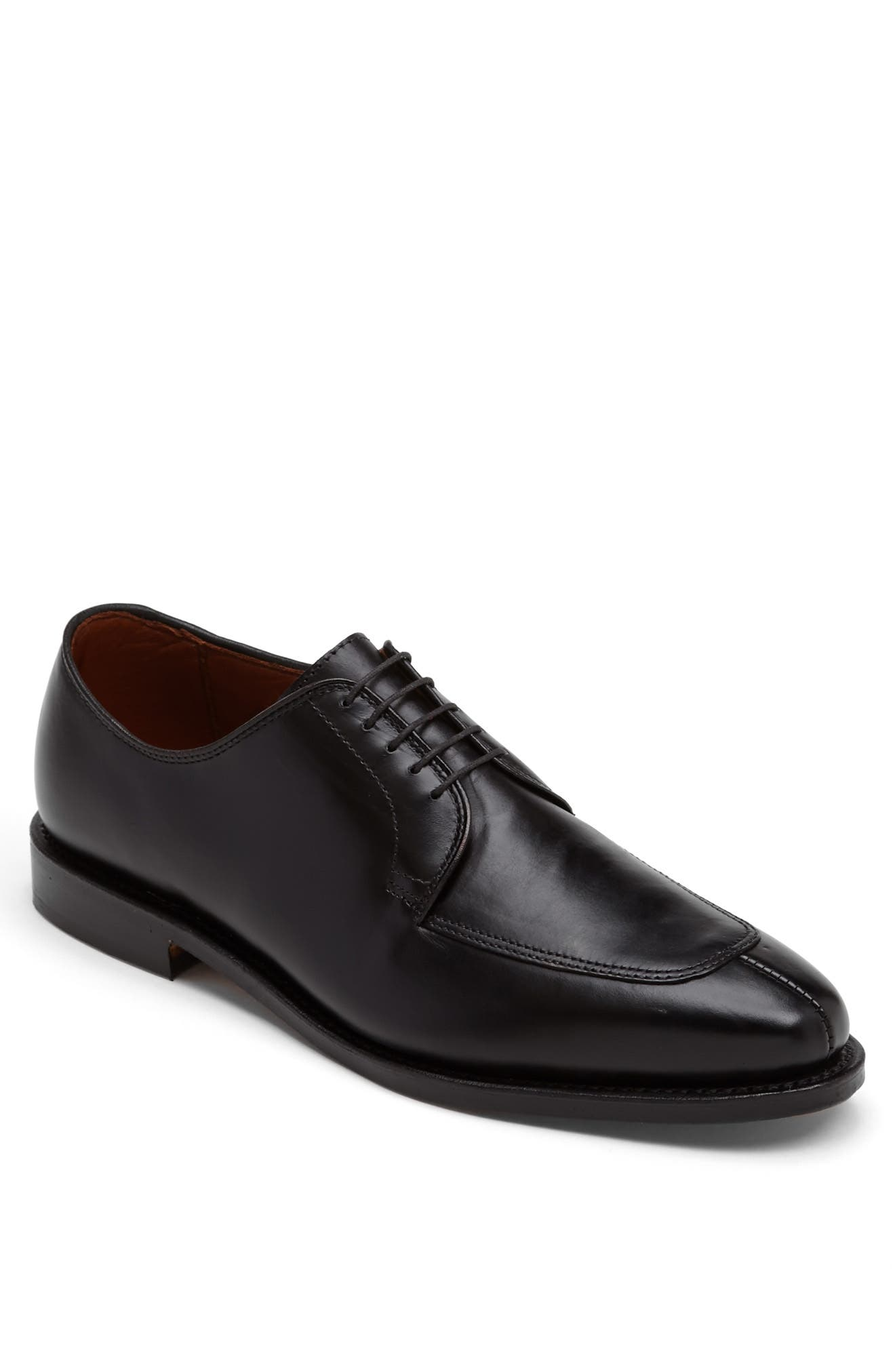 ALLEN EDMONDS, Delray Split Toe Derby, Alternate thumbnail 5, color, BLACK