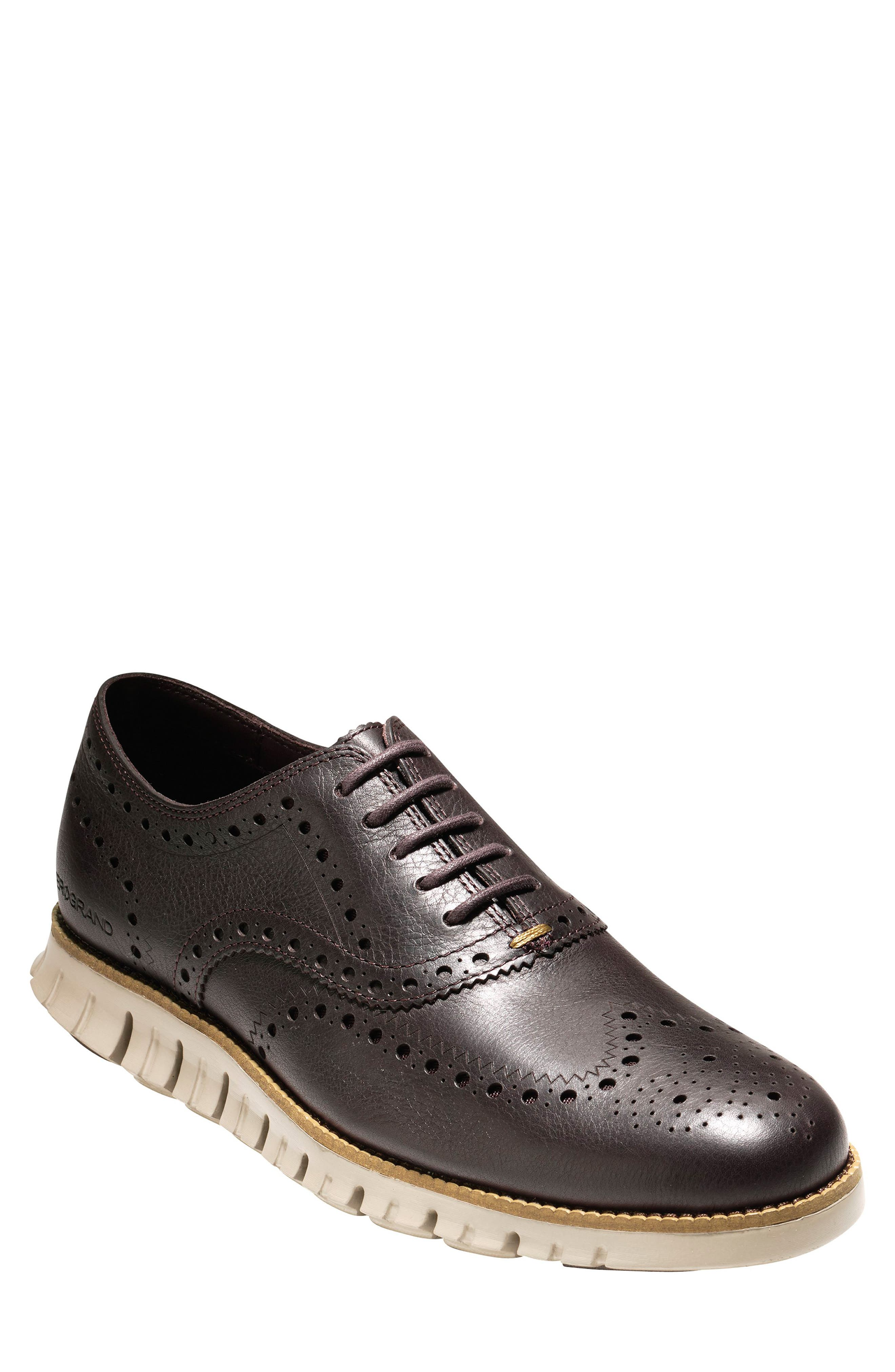 COLE HAAN, 'ZeroGrand' Wingtip Oxford, Main thumbnail 1, color, JAVA LEATHER