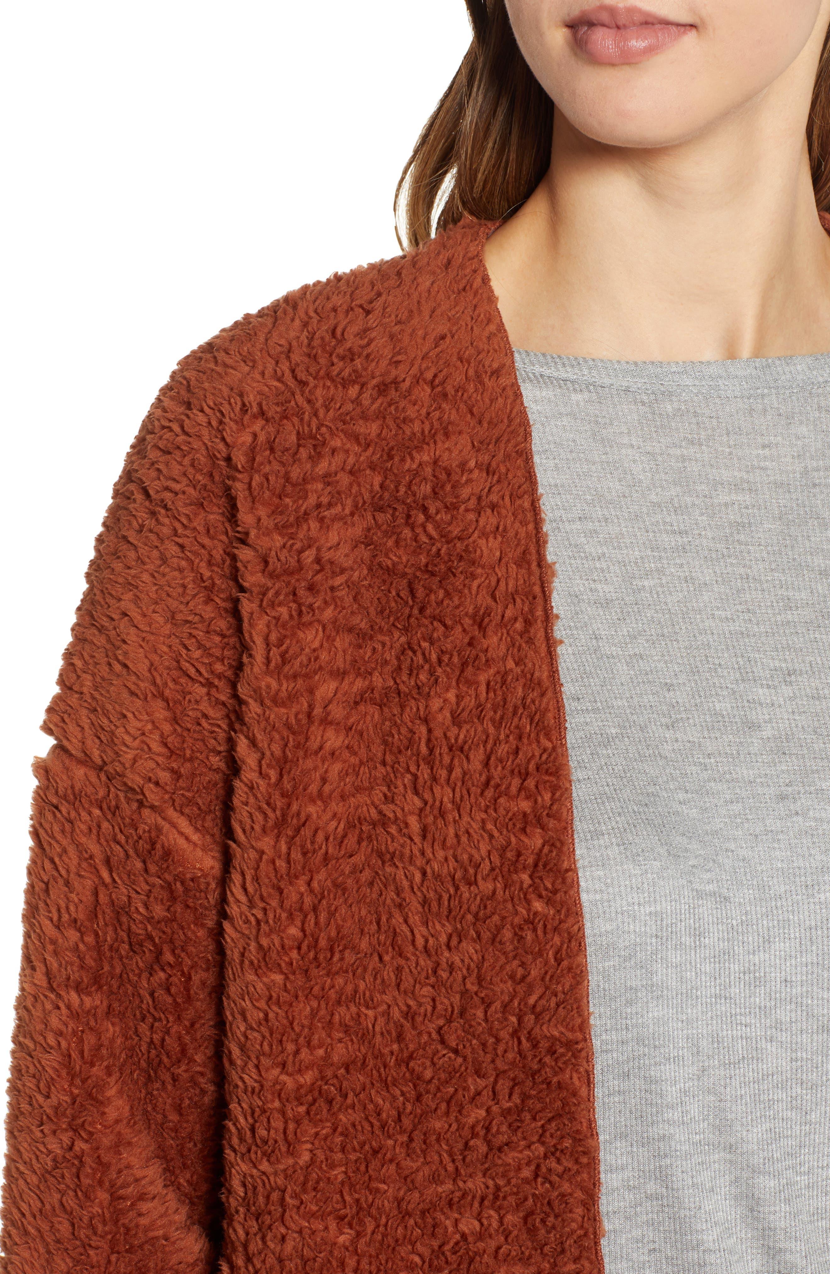 SOCIALITE, Cozy High Pile Fleece Jacket, Alternate thumbnail 5, color, 200