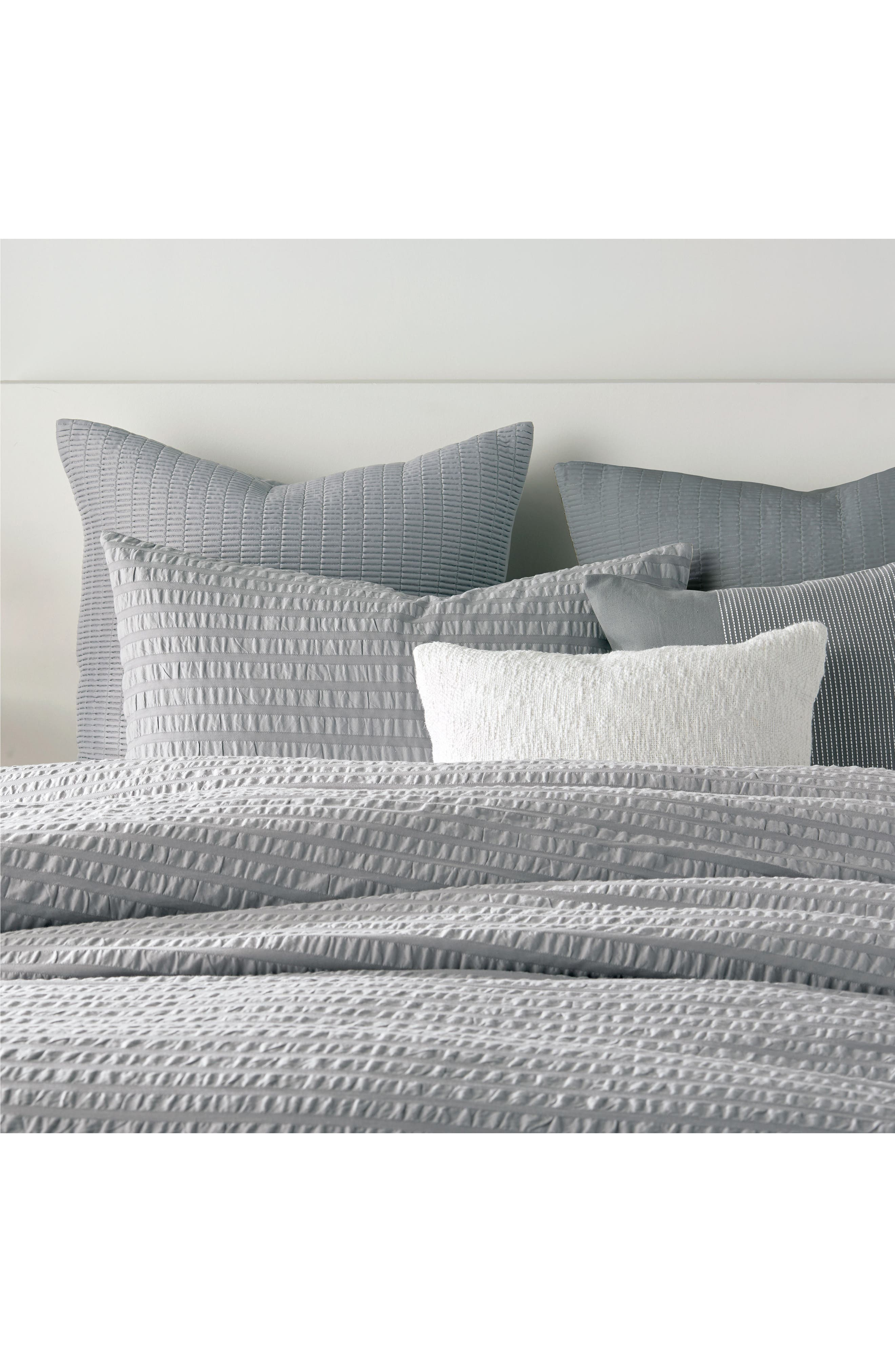 DKNY, Quilted Sham, Alternate thumbnail 2, color, GREY