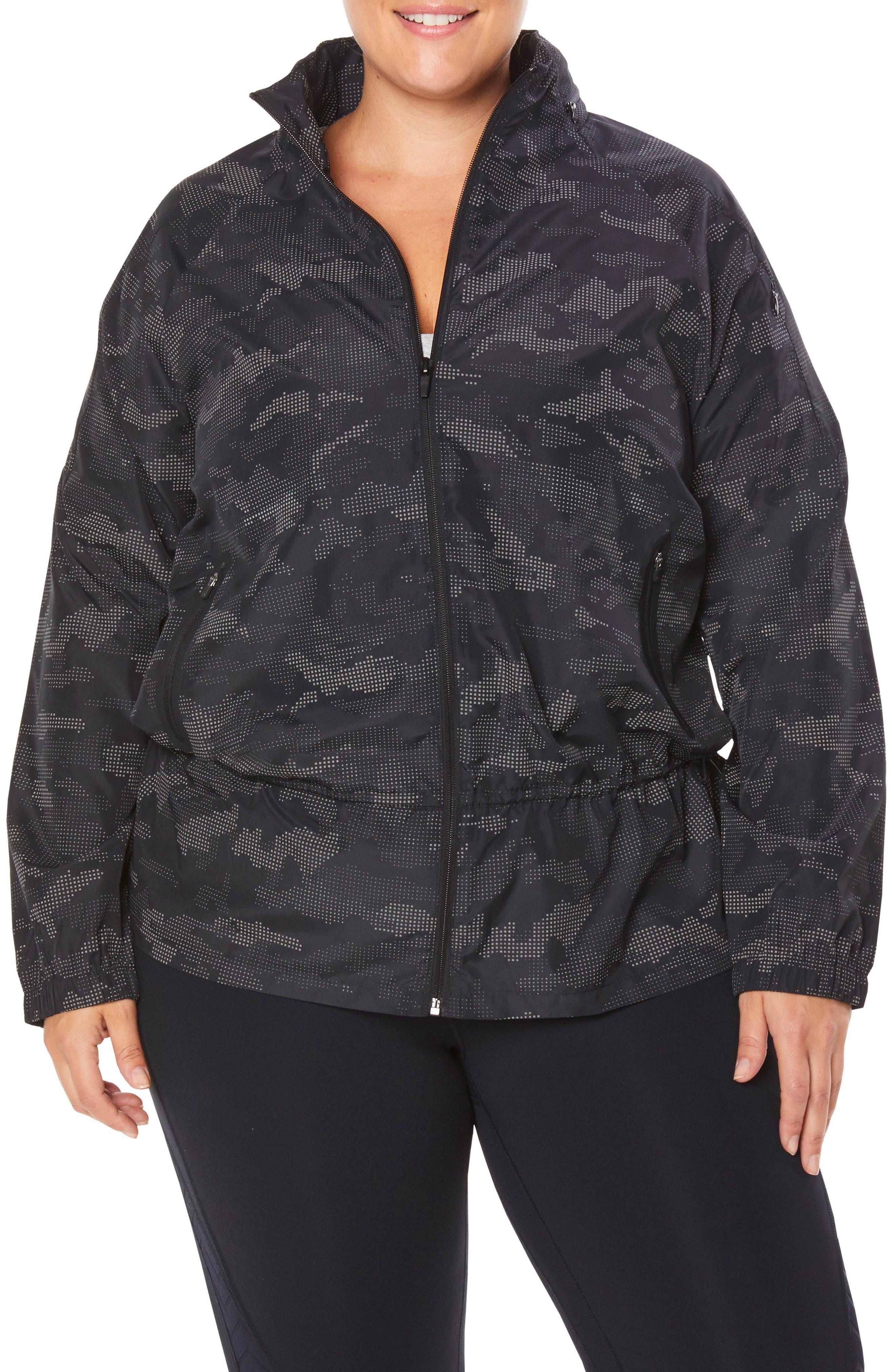 SHAPE ACTIVEWEAR Ghost Windbreaker Jacket, Main, color, 001