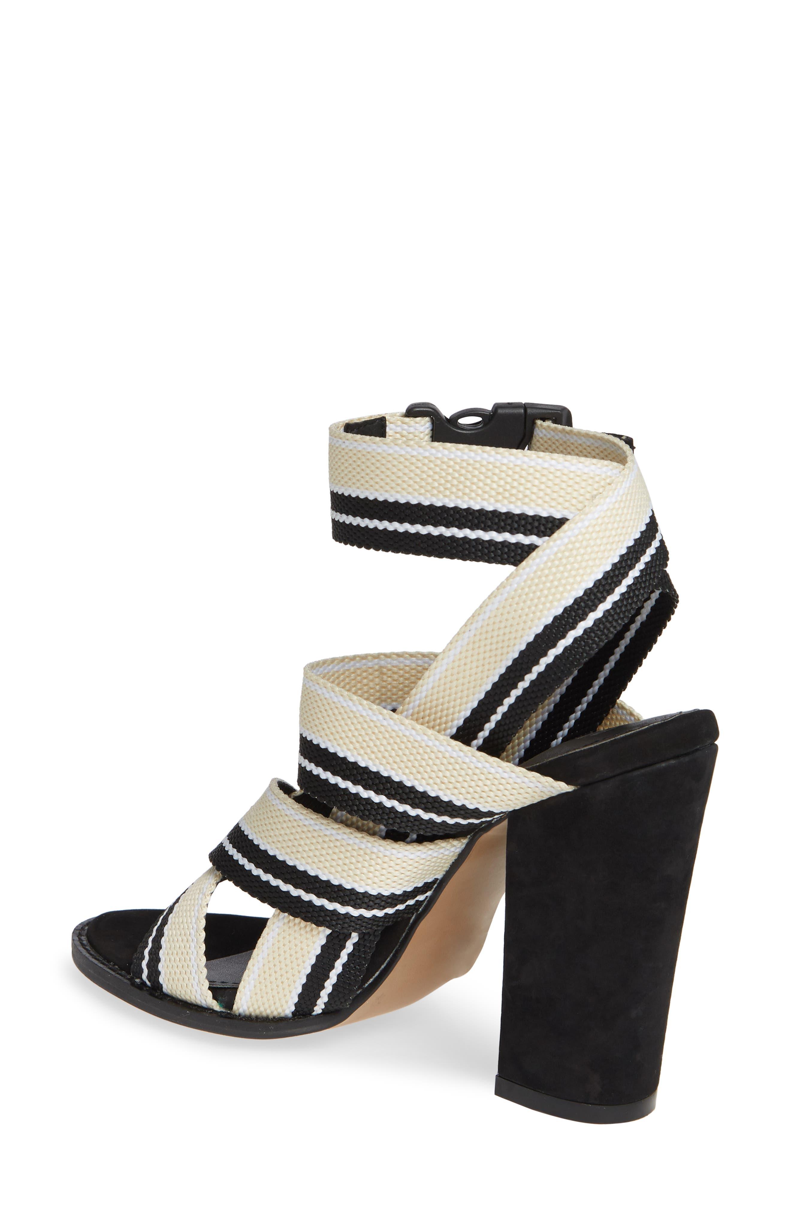 ALIAS MAE, Woven Strappy Sandal, Alternate thumbnail 2, color, NUDE/ BLACK FABRIC