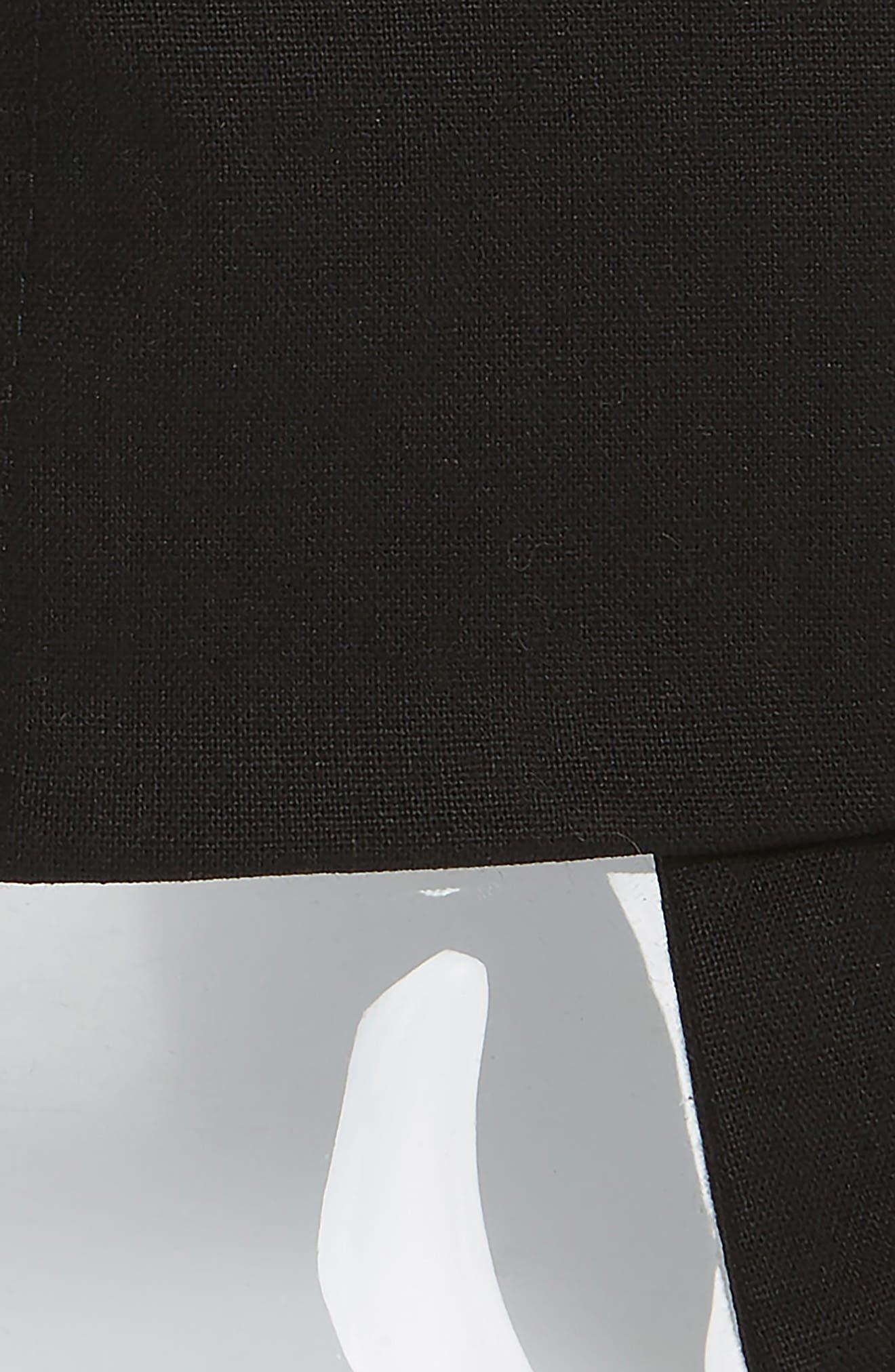 STEVE MADDEN, Transparent Panel Canvas Bucket Hat, Alternate thumbnail 2, color, BLACK