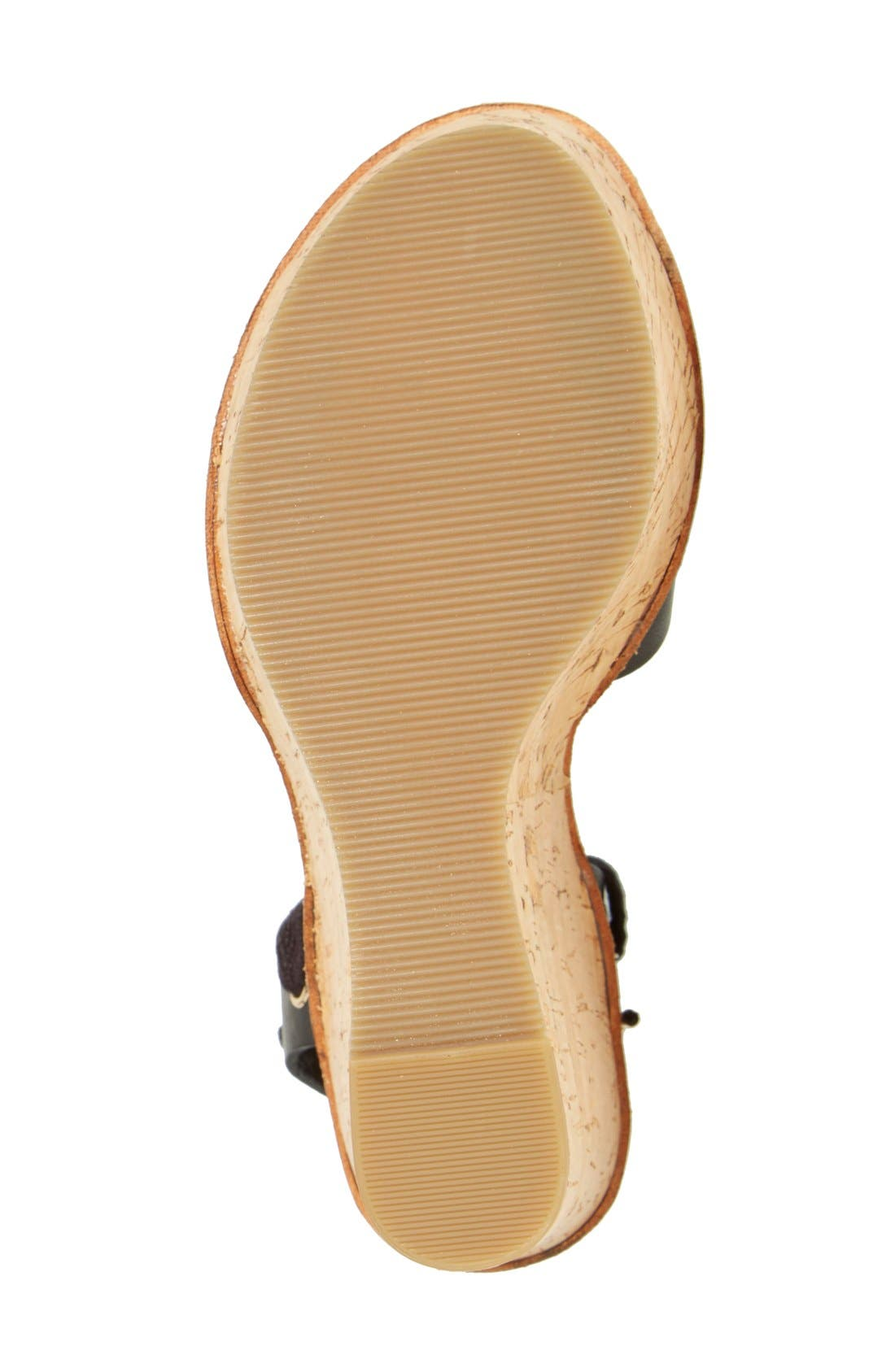 TOPSHOP, 'Wise' Platform Wedge Sandal, Alternate thumbnail 3, color, 001