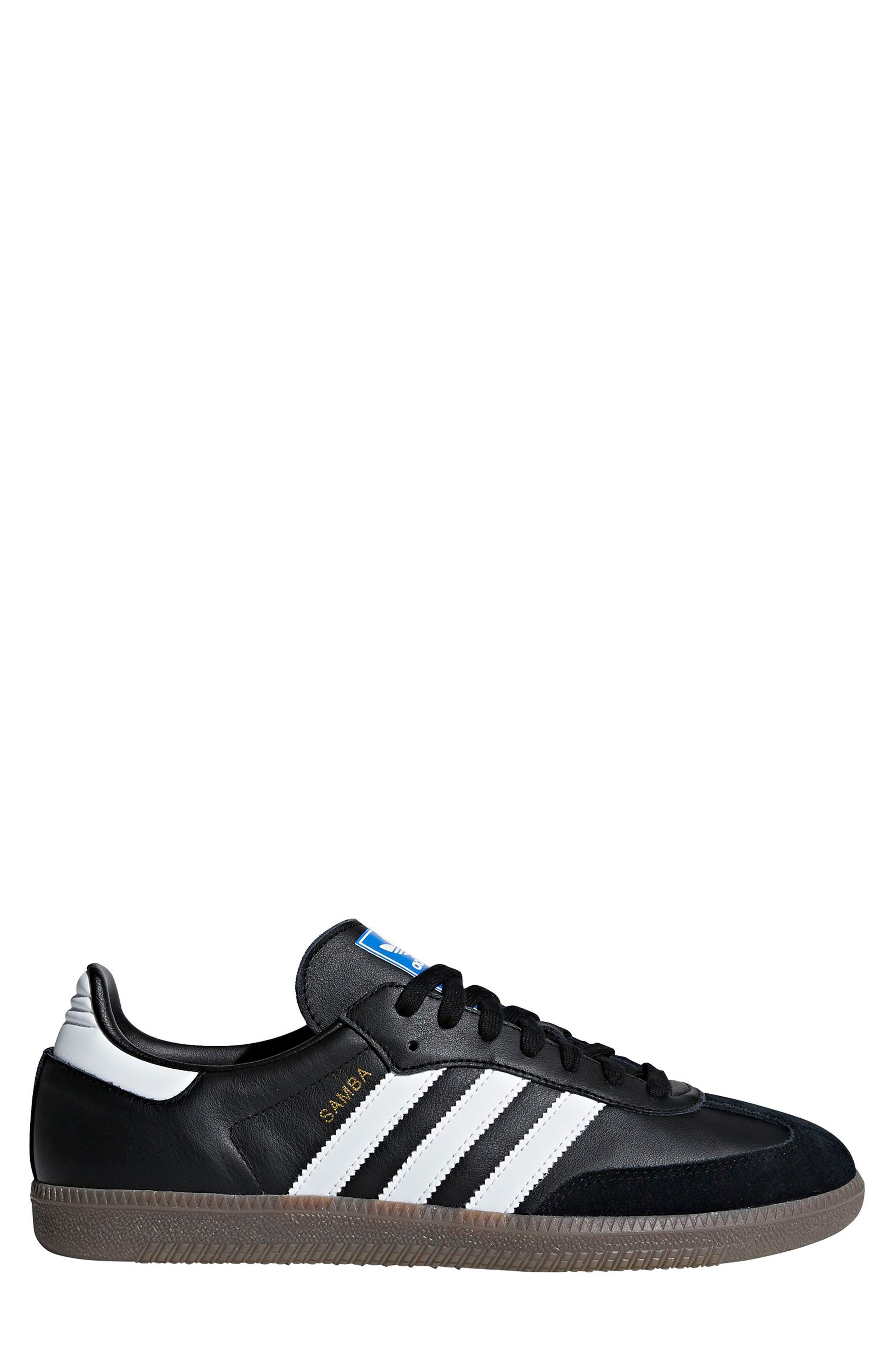 ADIDAS, Samba OG Sneaker, Main thumbnail 1, color, BLACK/ WHITE/ GUM