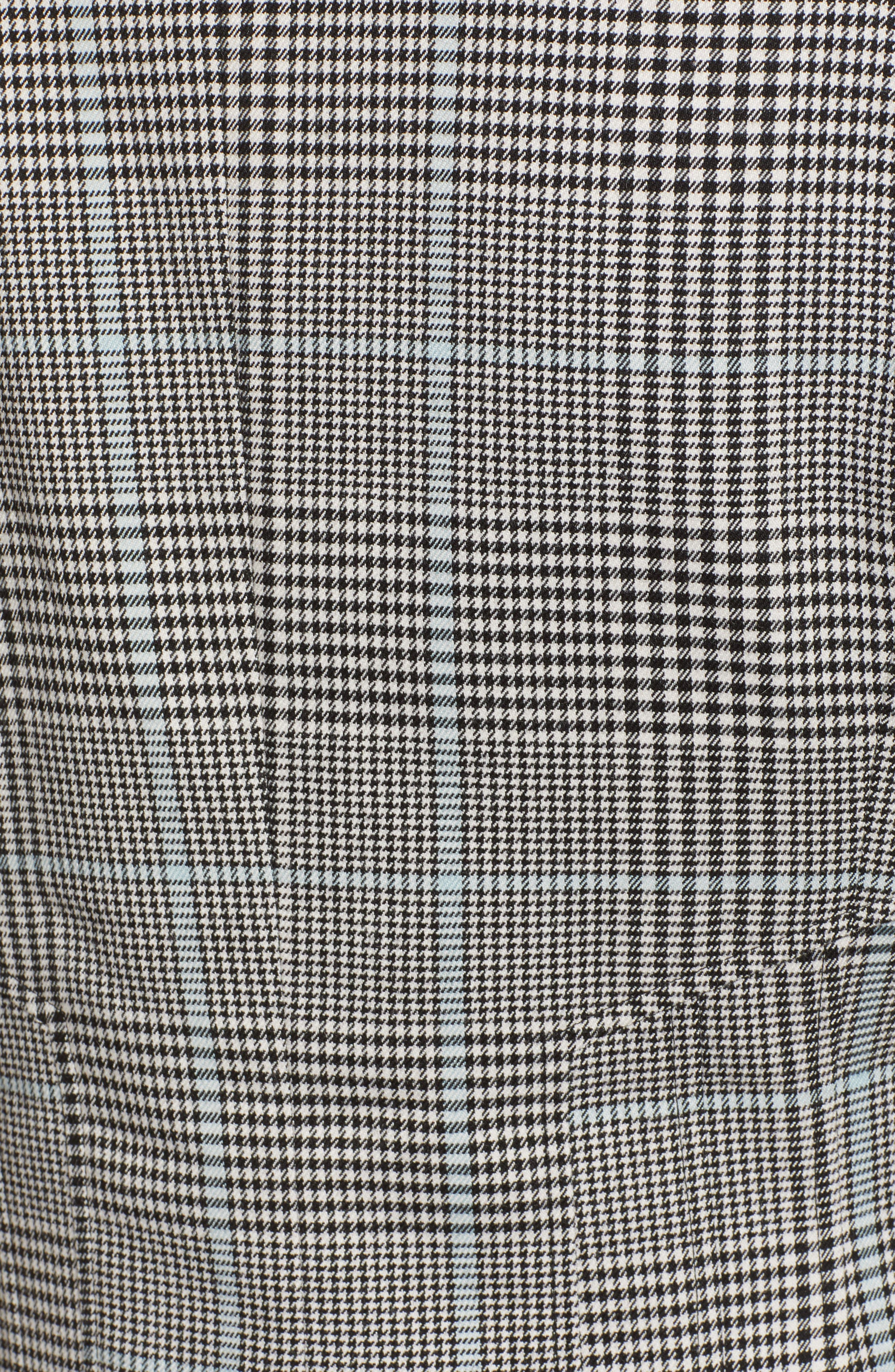 CHELSEA28, Plaid Blazer, Alternate thumbnail 7, color, BLUE OMPHALODES CHECK PATTERN