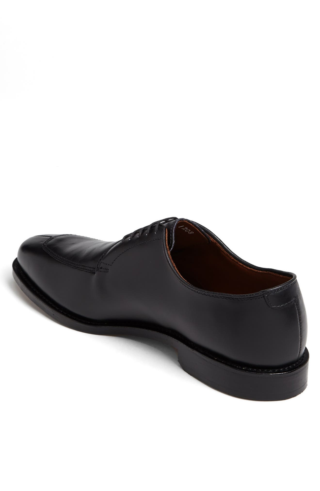 ALLEN EDMONDS, Delray Split Toe Derby, Alternate thumbnail 2, color, BLACK