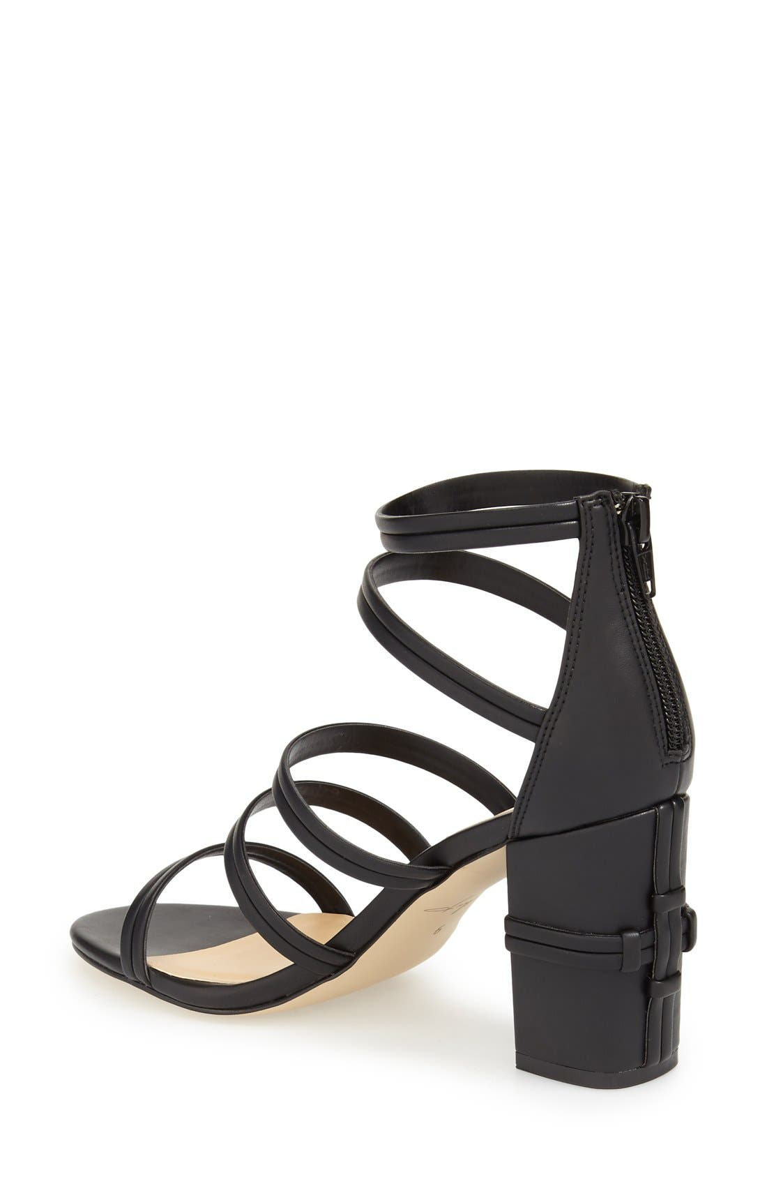 DAYA, by Zendaya 'Amiee' Strappy Sandal, Alternate thumbnail 3, color, 001