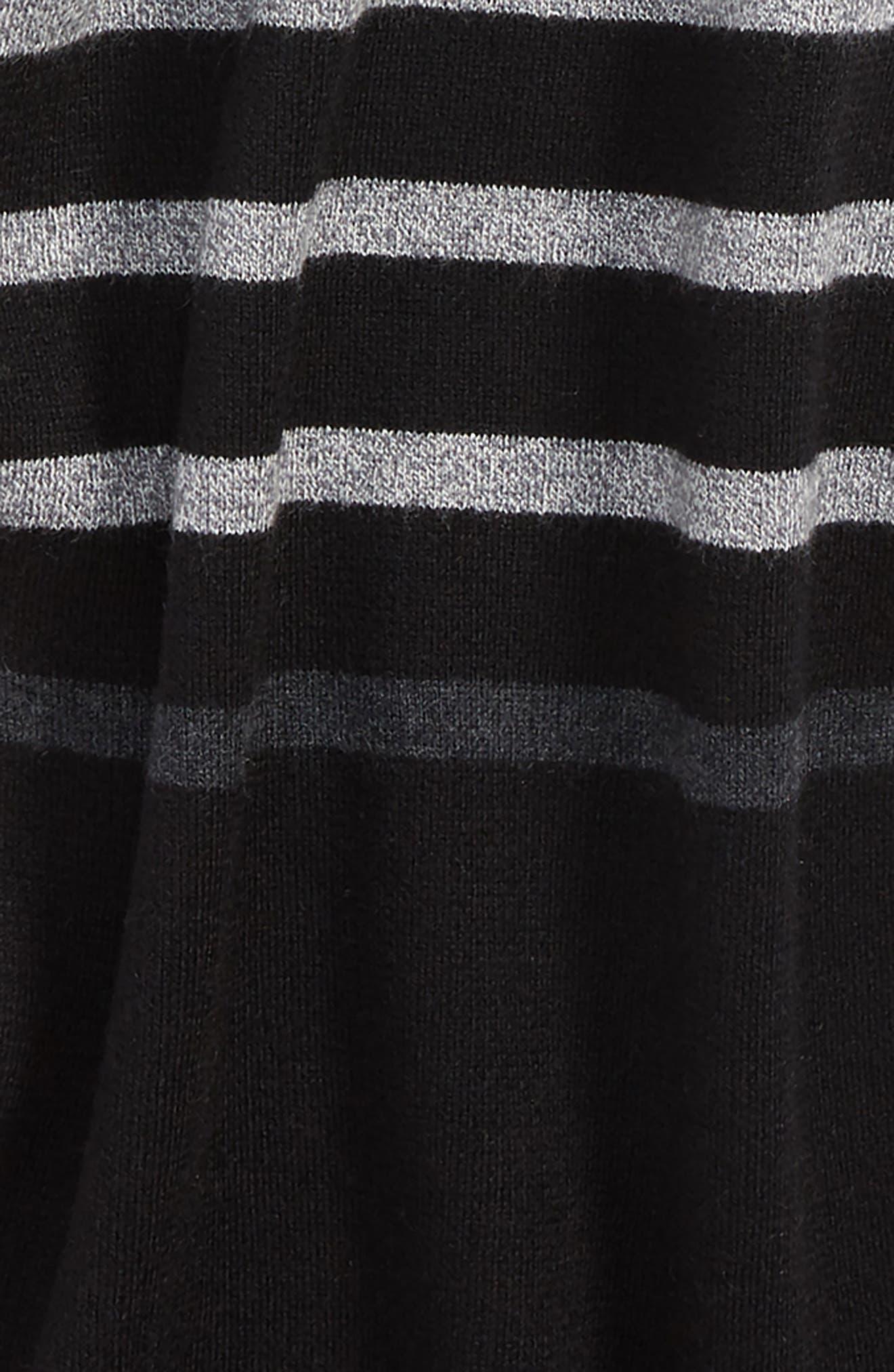 TED BAKER LONDON, Stripe Scarf, Alternate thumbnail 3, color, 001