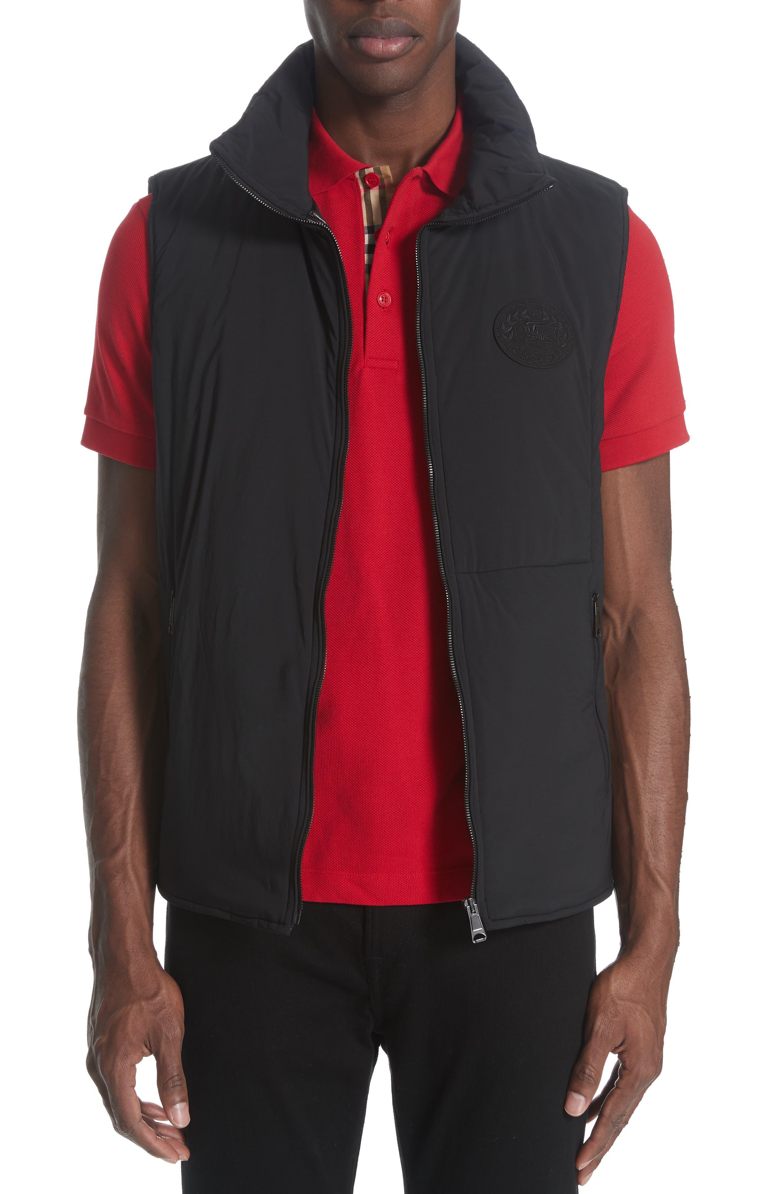 BURBERRY, Lenthorne Check Car Coat with Detachable Vest, Alternate thumbnail 2, color, DARK CAMEL