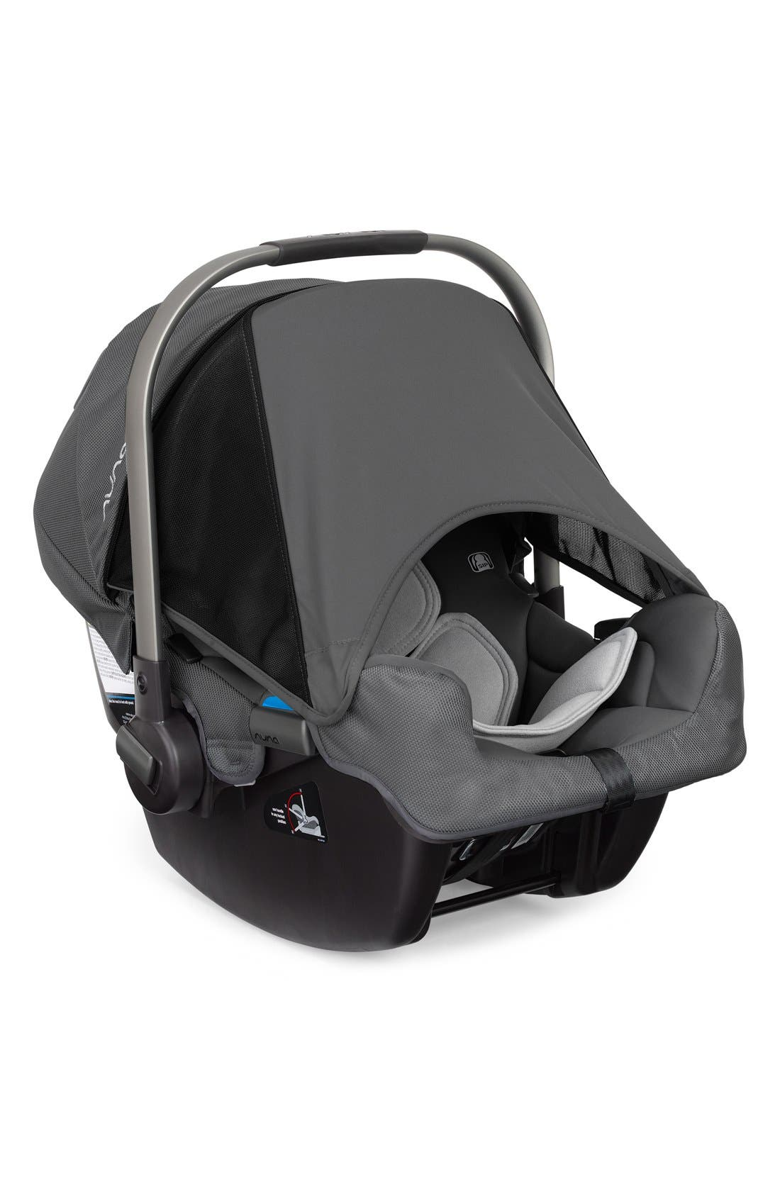 NUNA, PIPA<sup>™</sup> Car Seat & Base, Alternate thumbnail 4, color, GRAPHITE
