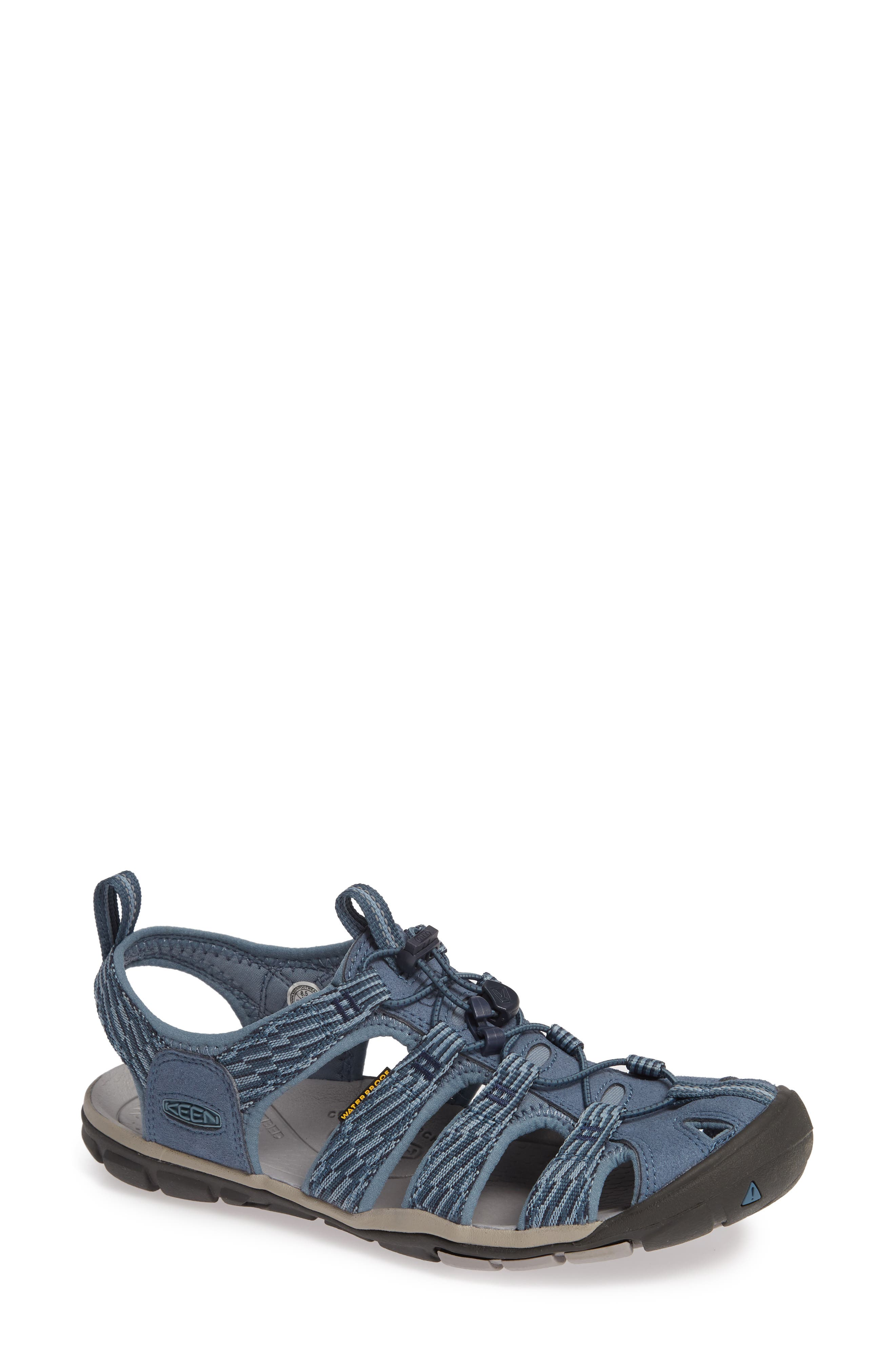 KEEN, 'Clearwater CNX' Sandal, Main thumbnail 1, color, BLUE MIRAGE/ CITADEL FABRIC