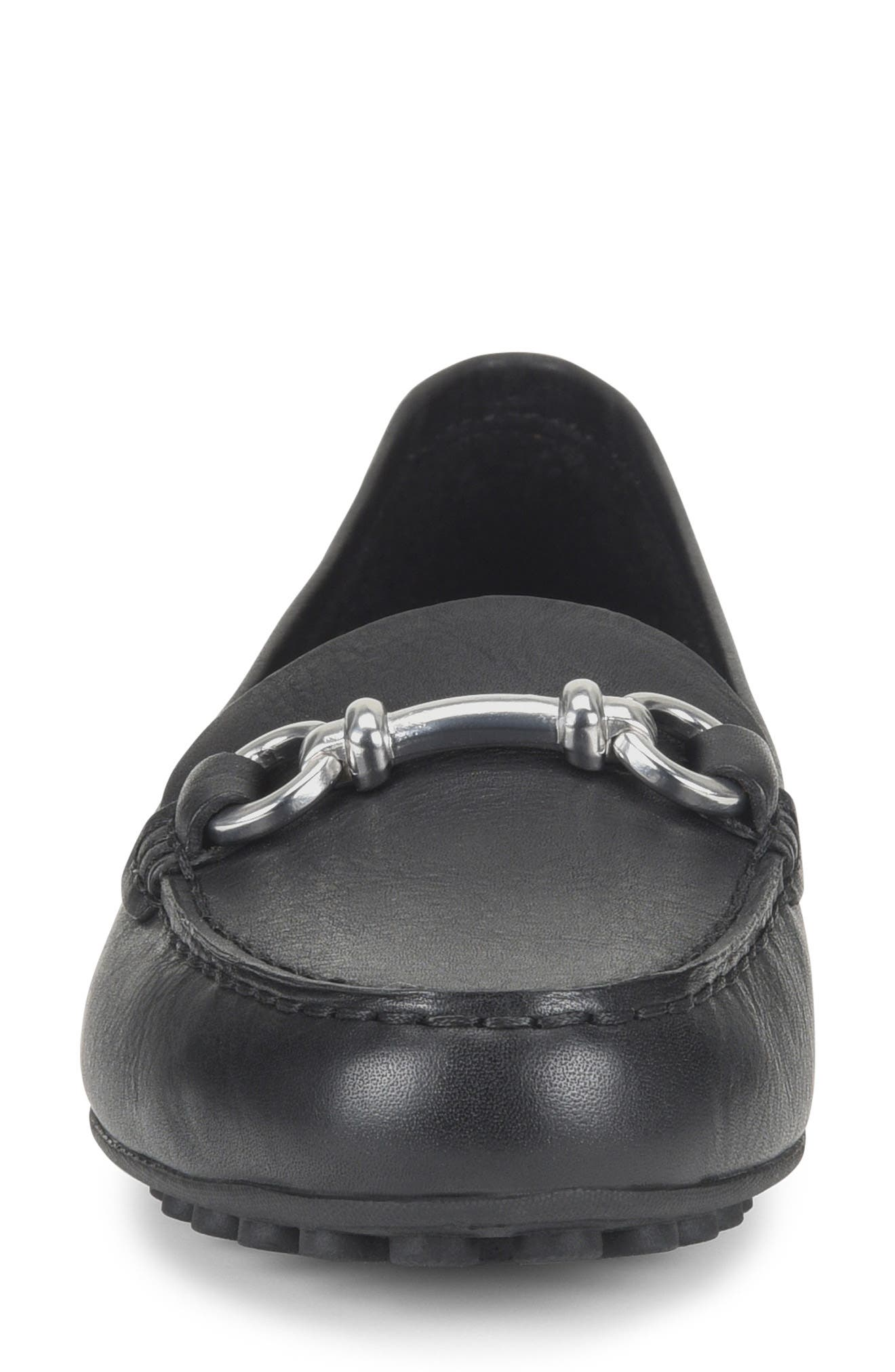 BØRN, Magnolia Loafer, Alternate thumbnail 4, color, BLACK LEATHER