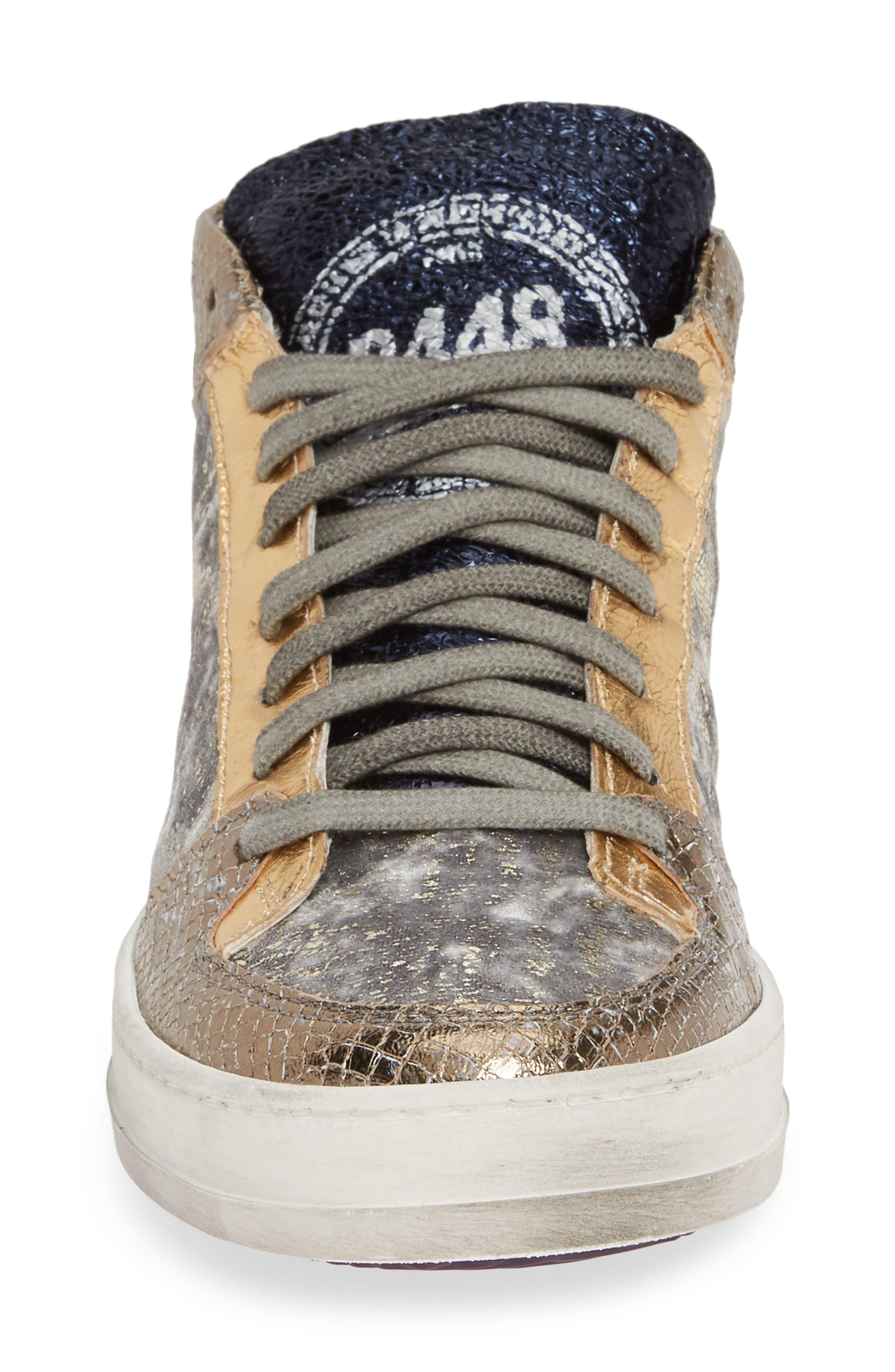 Shop P448 Queens Mid Sneaker In Lurex