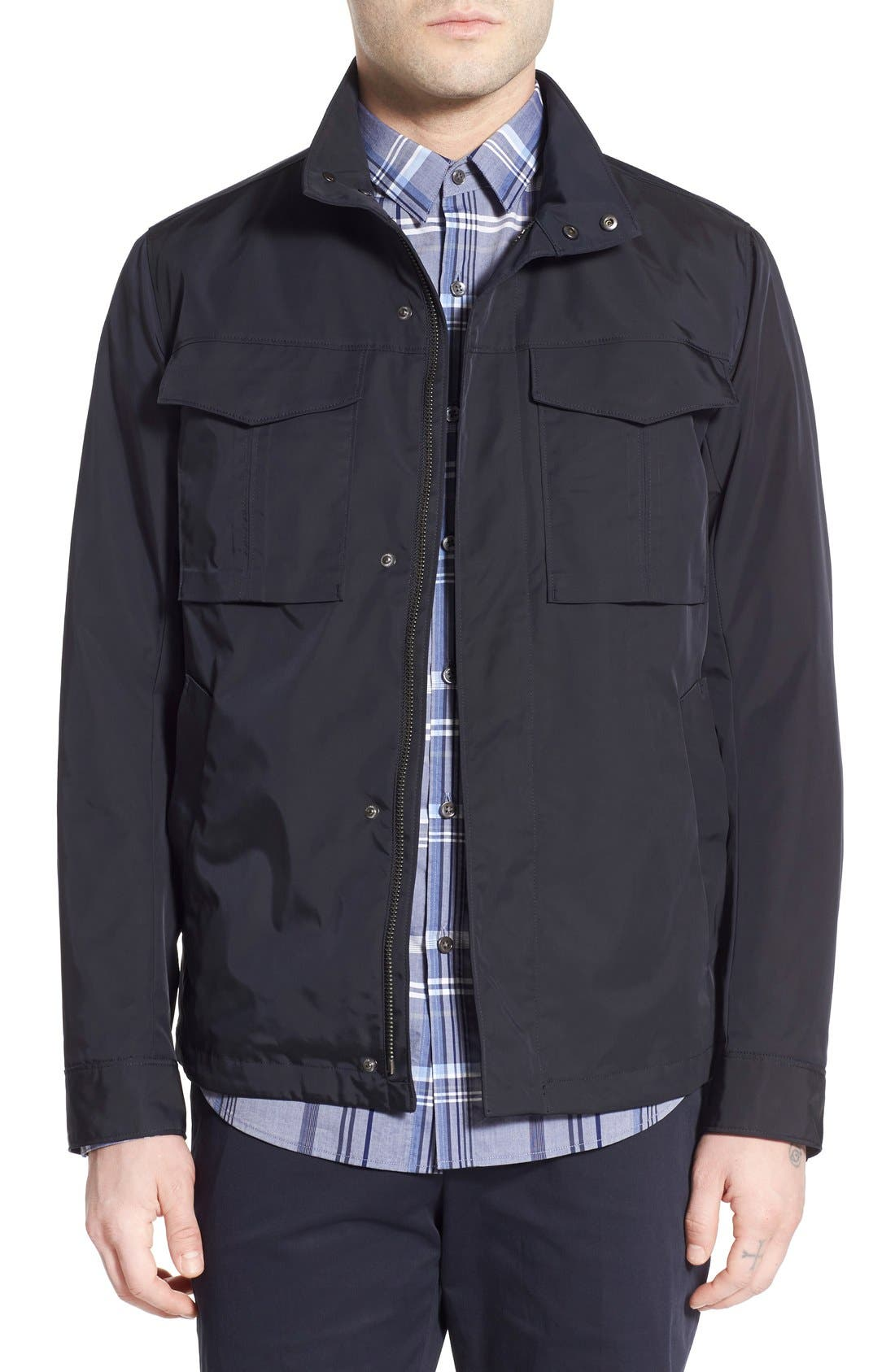THEORY 'Yost' Canvas Jacket, Main, color, INK