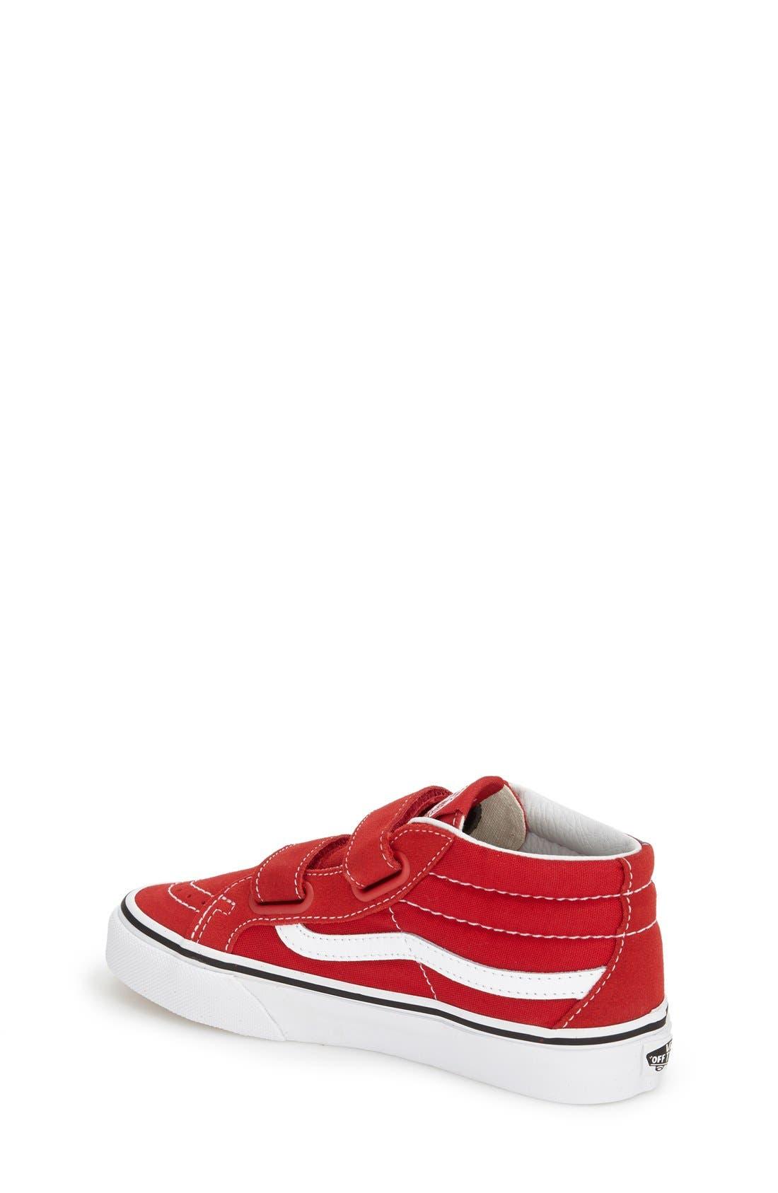 VANS, 'Sk8-Hi Reissue V' Sneaker, Alternate thumbnail 2, color, FORMULA ONE/ TRUE WHITE