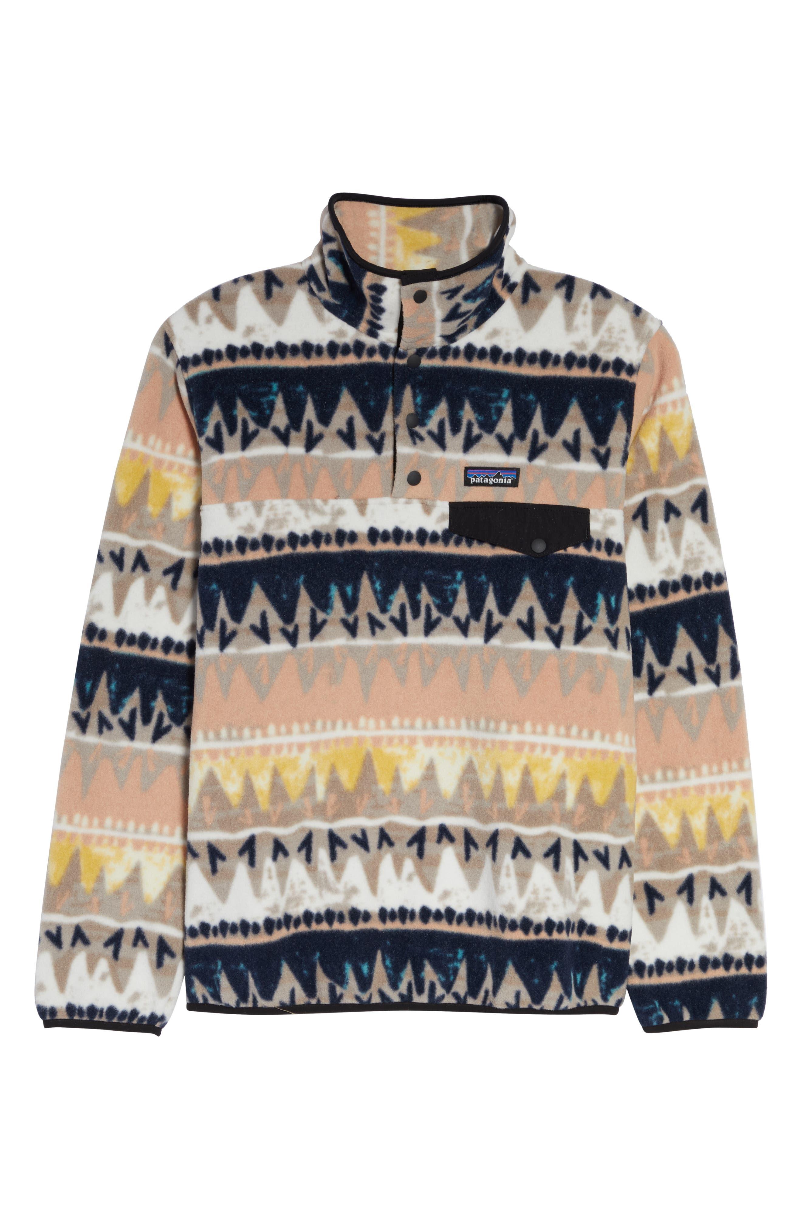 PATAGONIA, Synchilla Snap-T<sup>®</sup> Fleece Pullover, Alternate thumbnail 6, color, BANDICOOT/ MARROW GREY