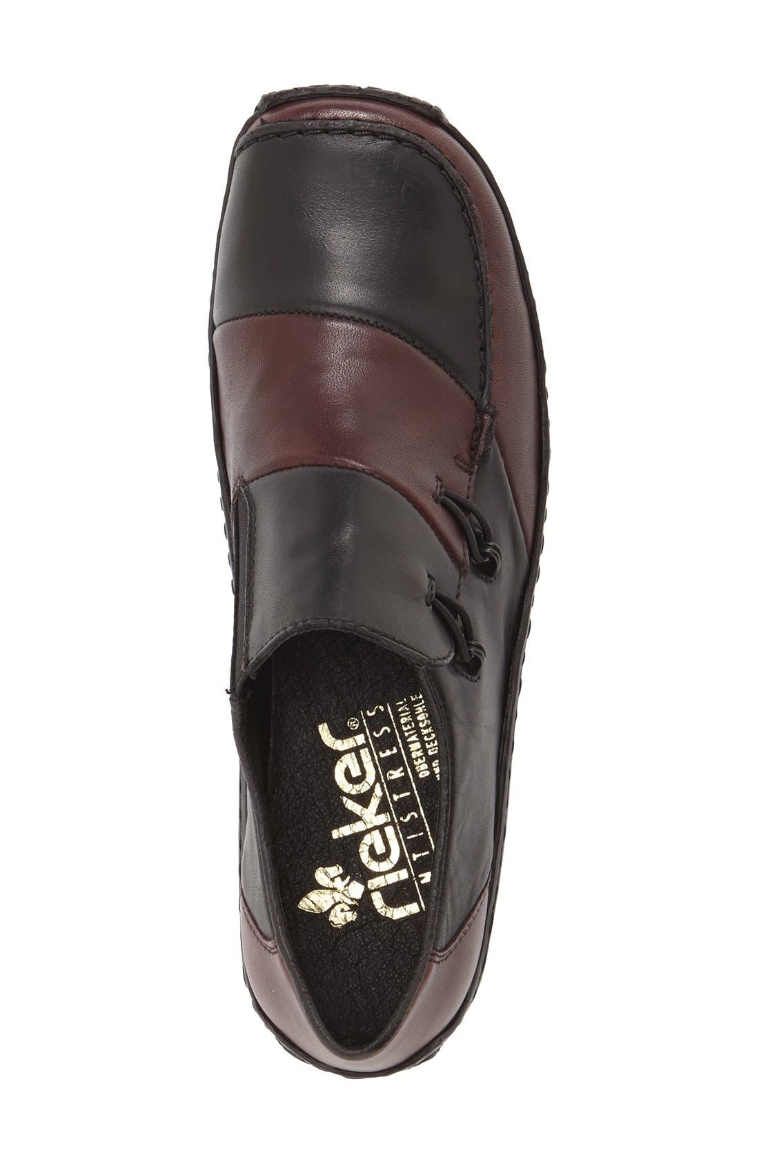 RIEKER ANTISTRESS, 'Celia 62' Loafer, Alternate thumbnail 3, color, BLACK LEATHER