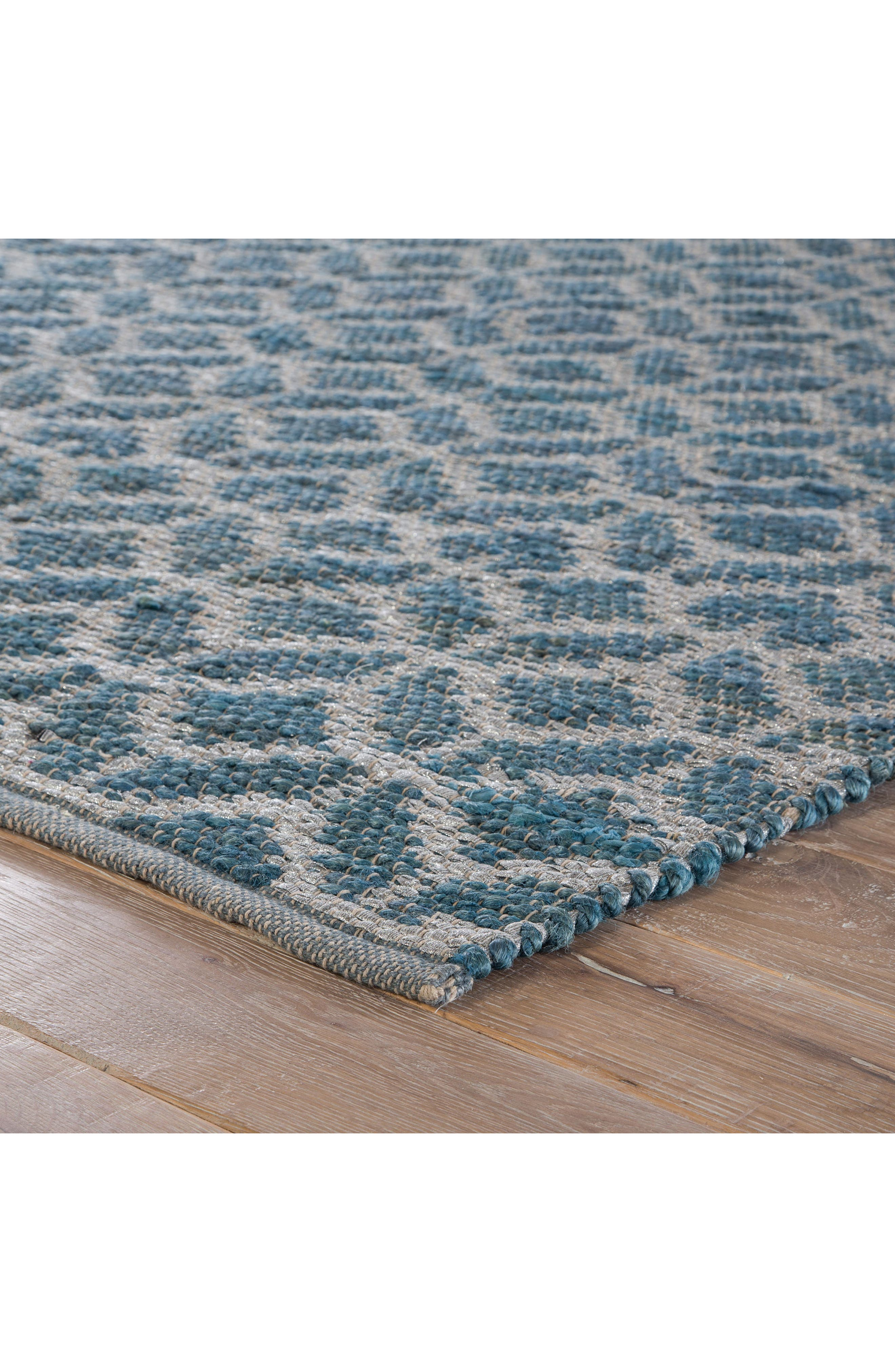 JAIPUR, Calm Waters Rug, Alternate thumbnail 6, color, INDIAN TEAL/ SILVER